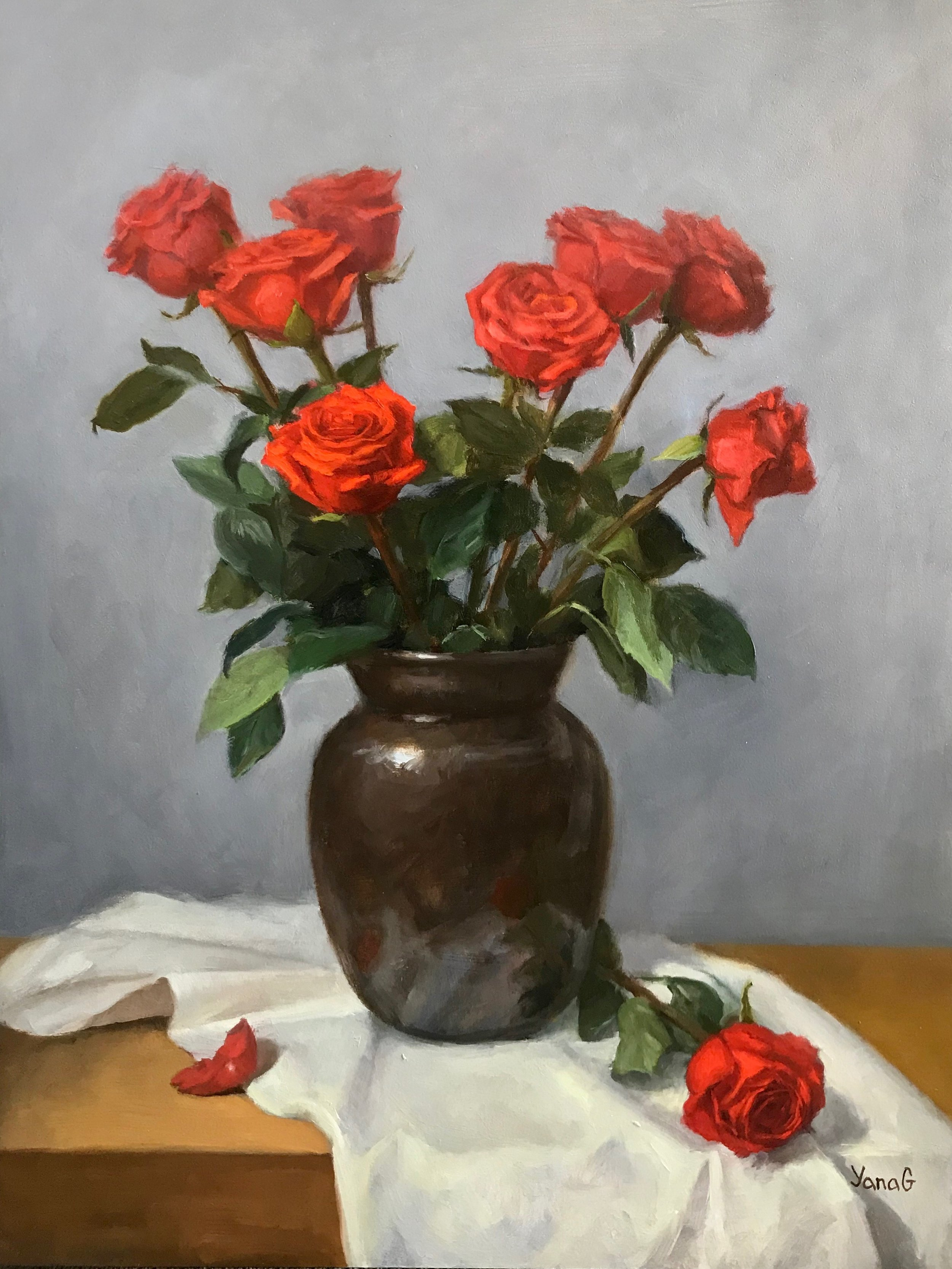 Special Bouquet 12x16 Oil on board