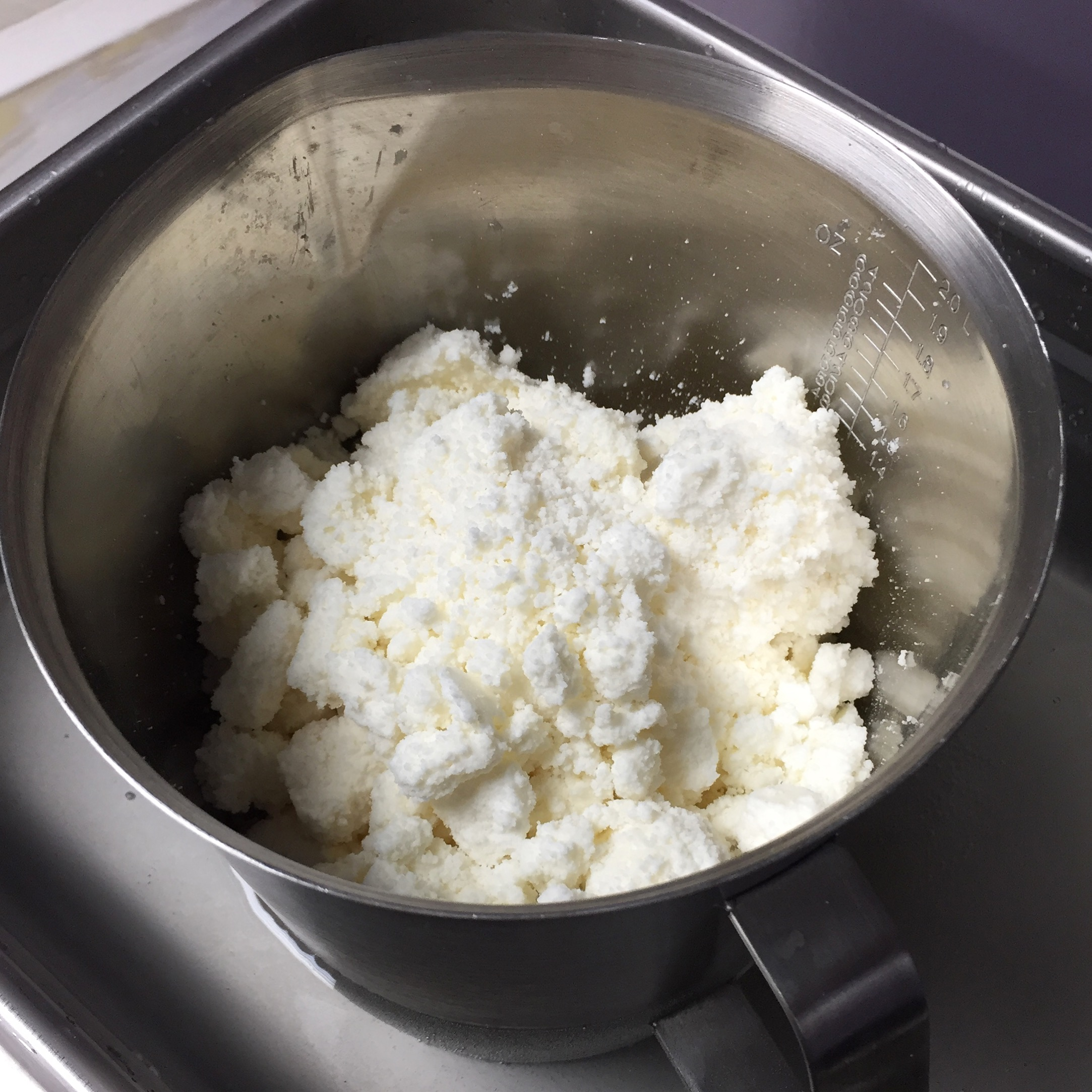 Butter being melted