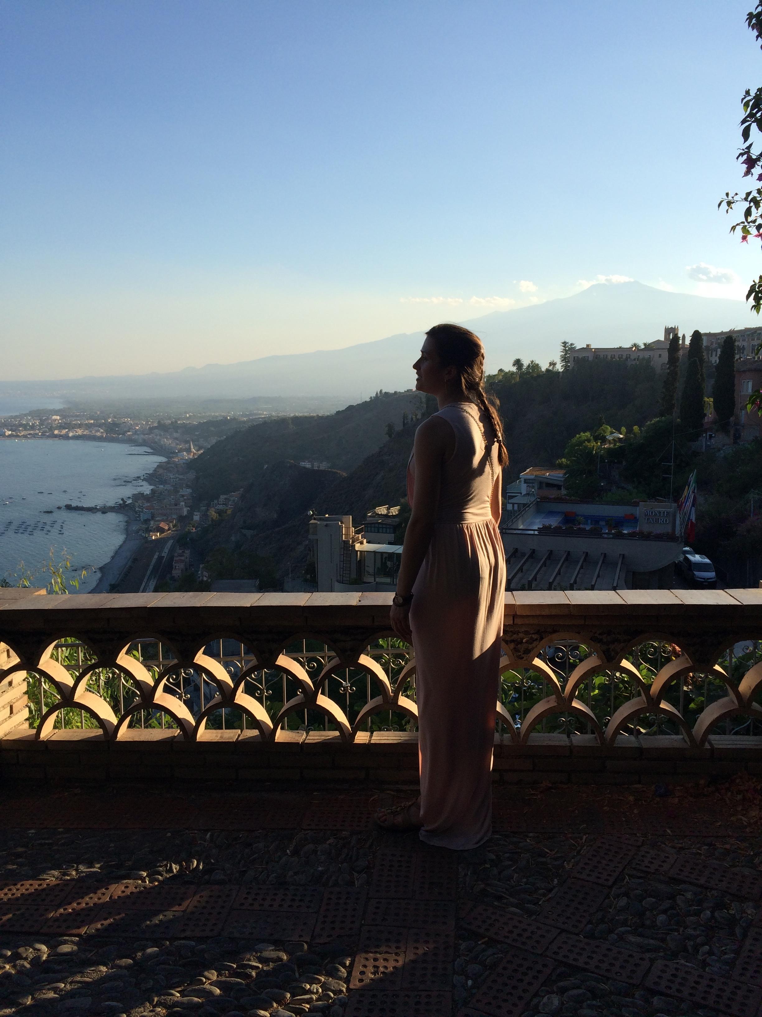Elena in the Gardens of Taormina