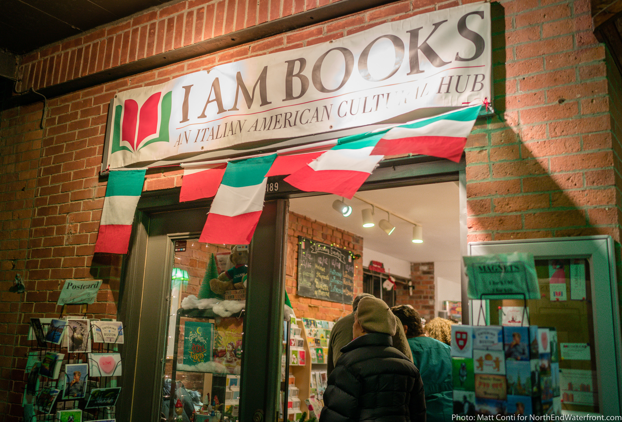 A gift certificate to I Am Books in Boston's North End