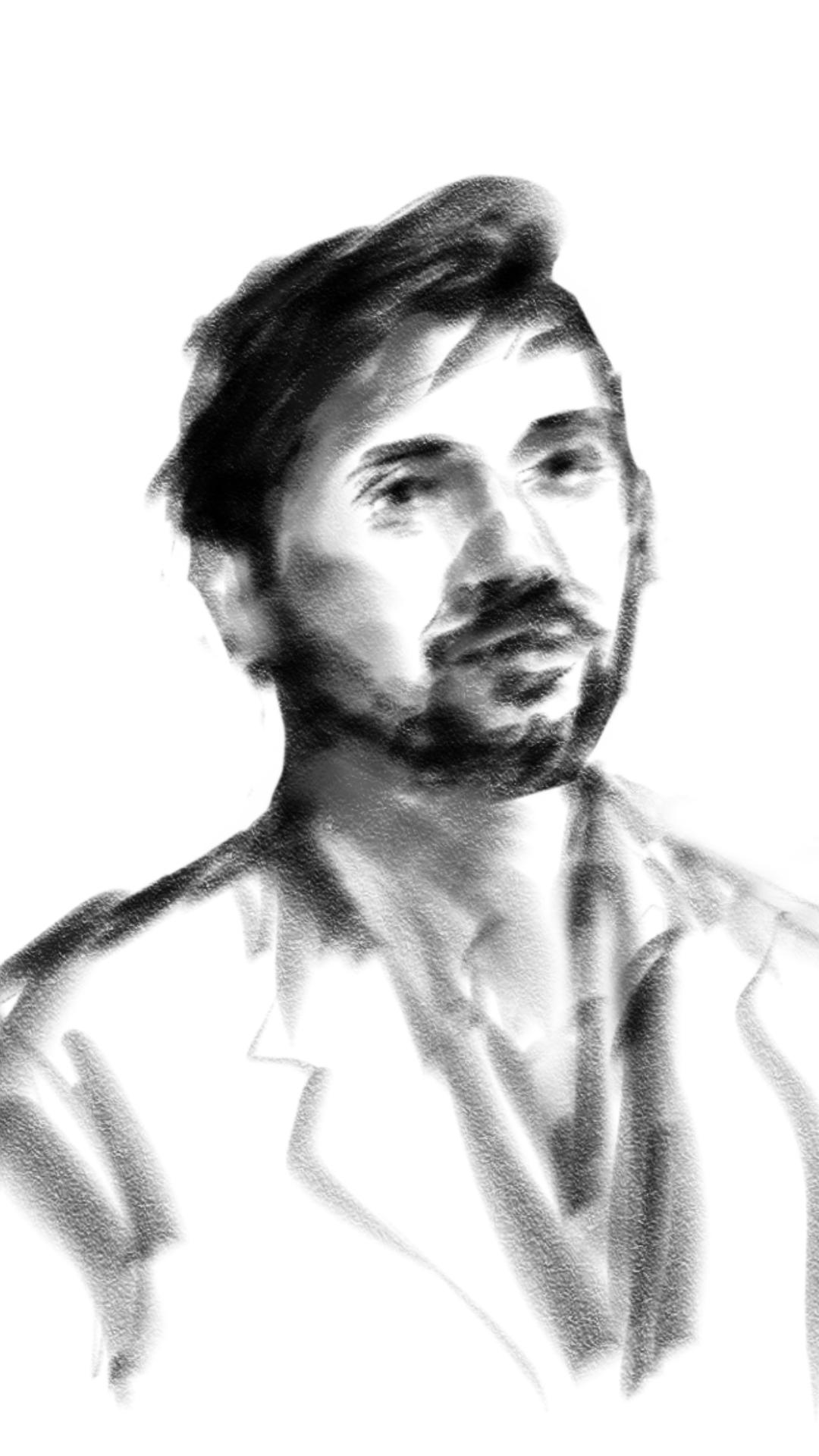 A custom portrait by artist Sean Devare