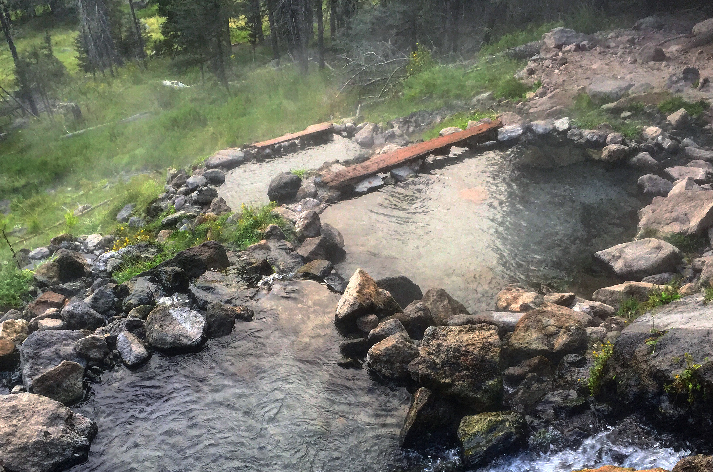 San Antonio Hot Springs in the Jemez mountains of Northern New Mexico