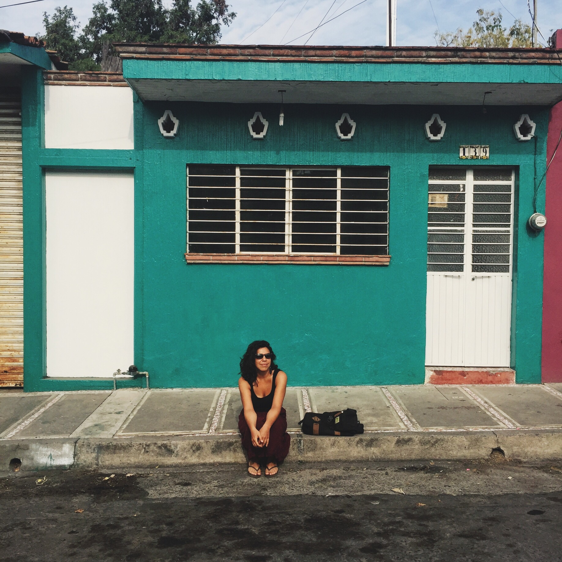 Waiting for some fresh coco's on the colorful streets