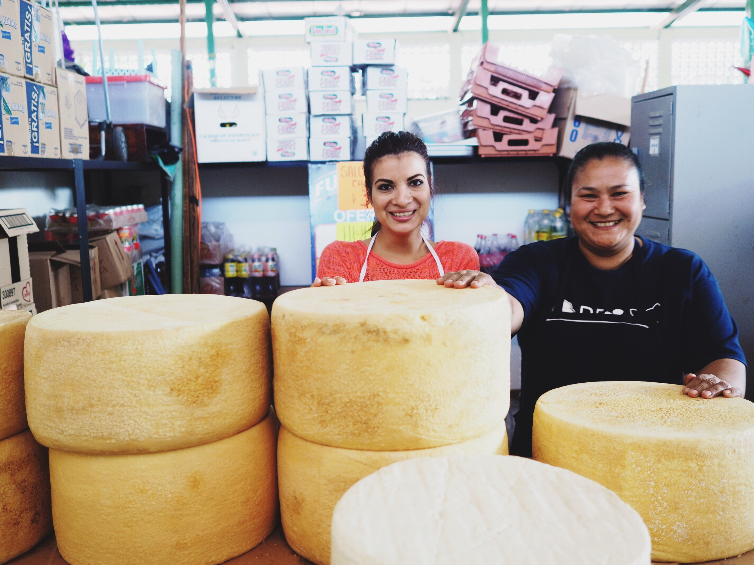 The wonderful ladies at the queso booth in the Colima Central Market