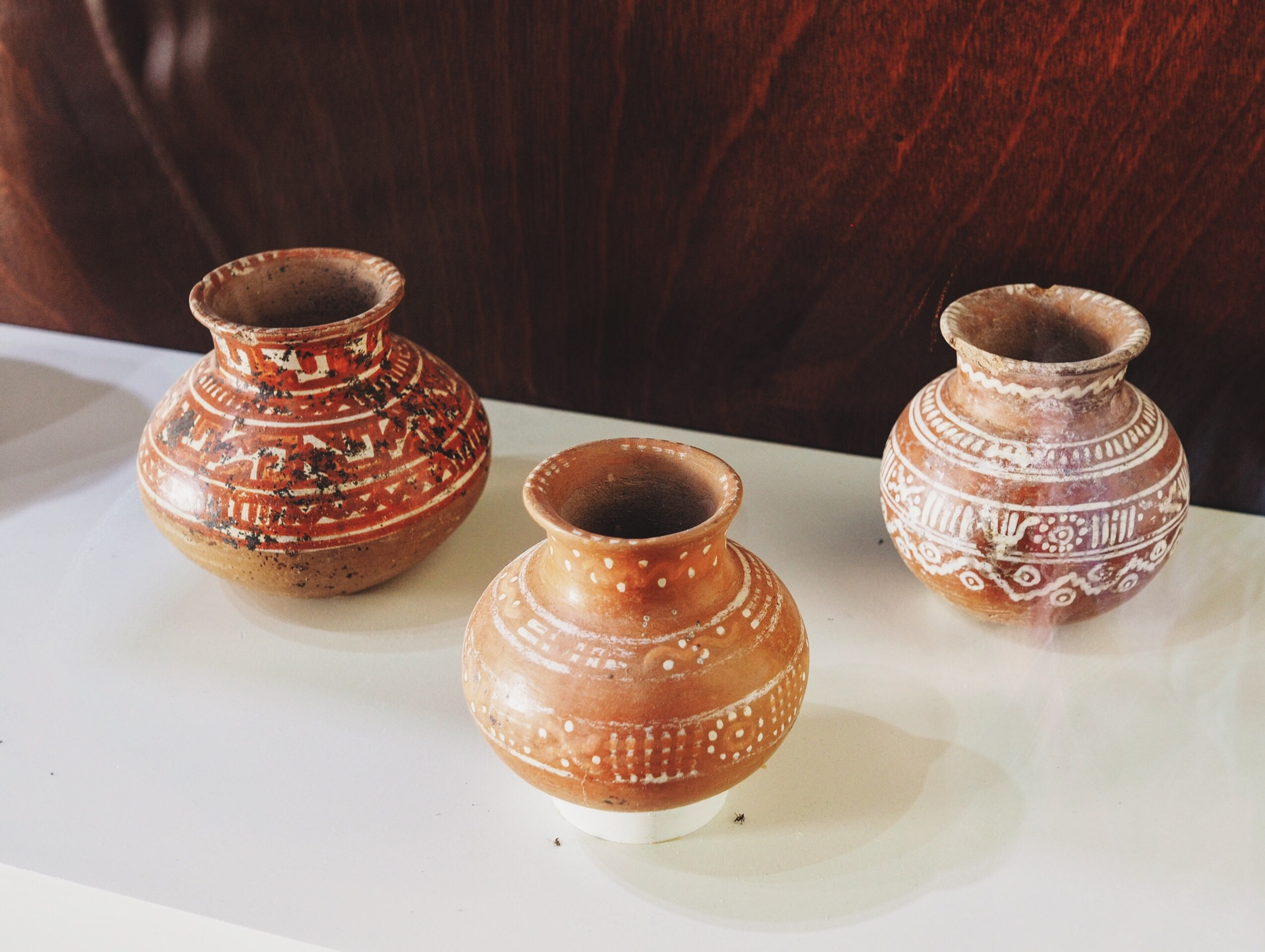 Red clay ceramics likely pit-fired, circa 800AD