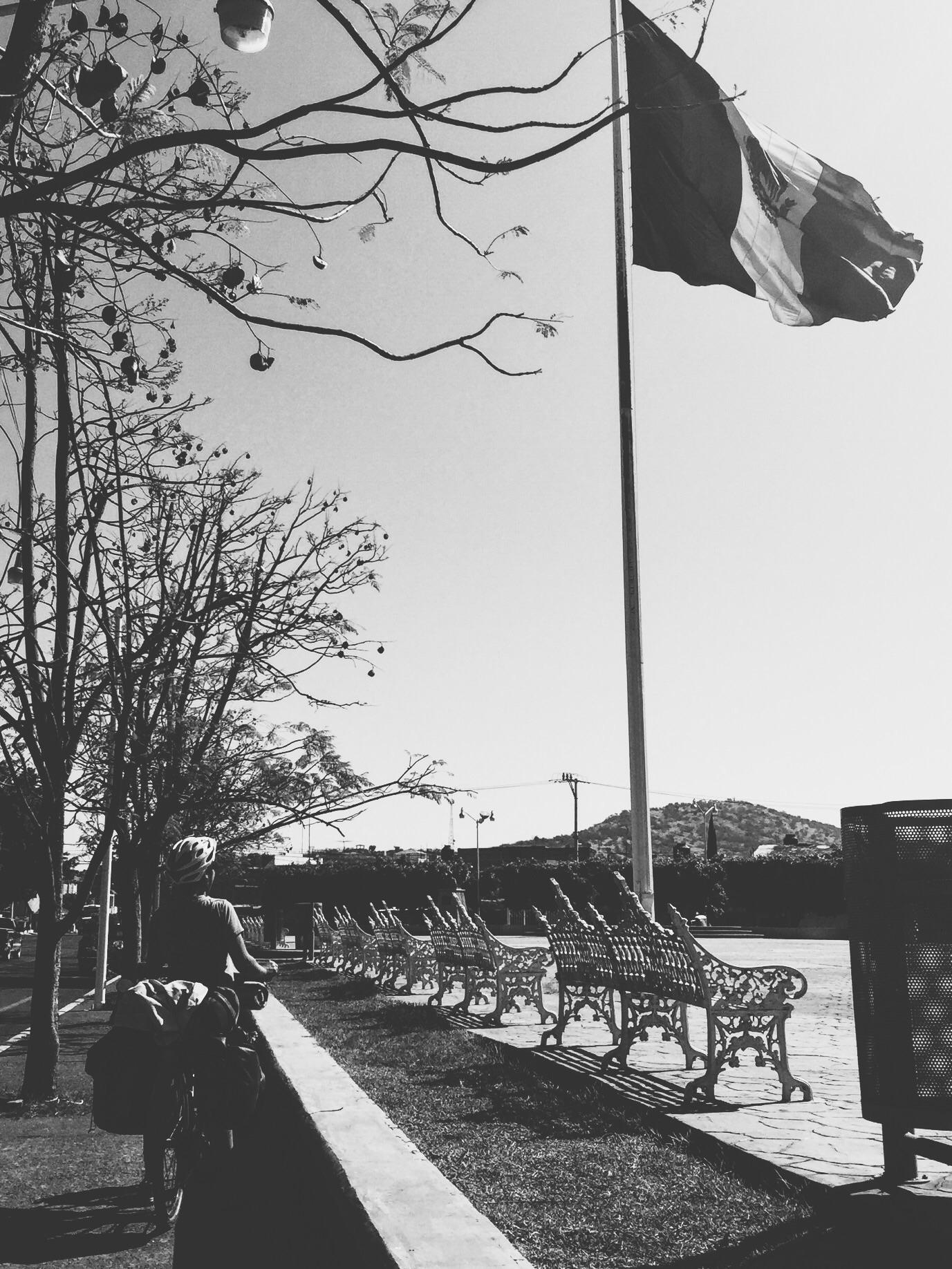 La bandera in San Pedro Cahro