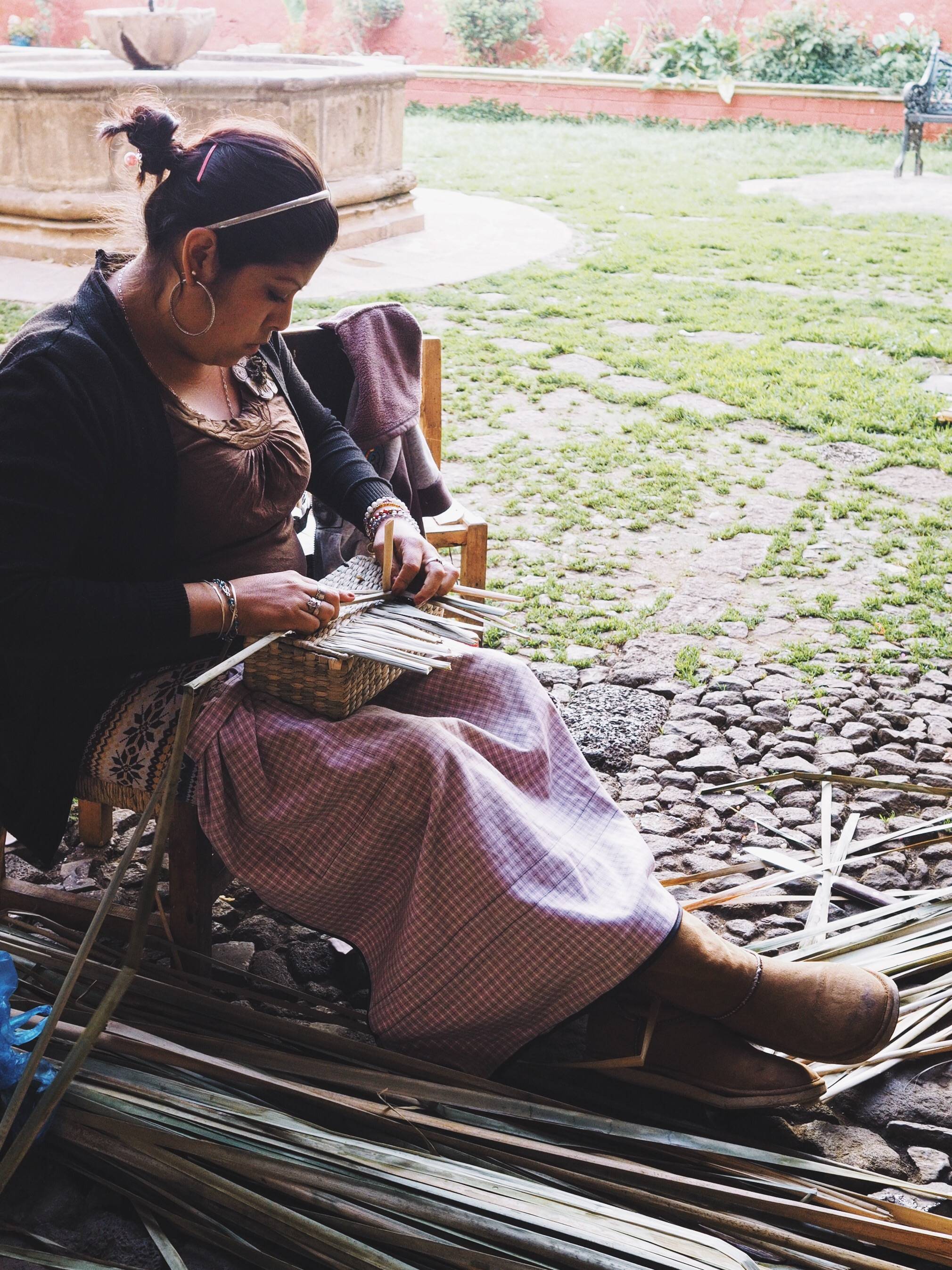Local basketweaving in action