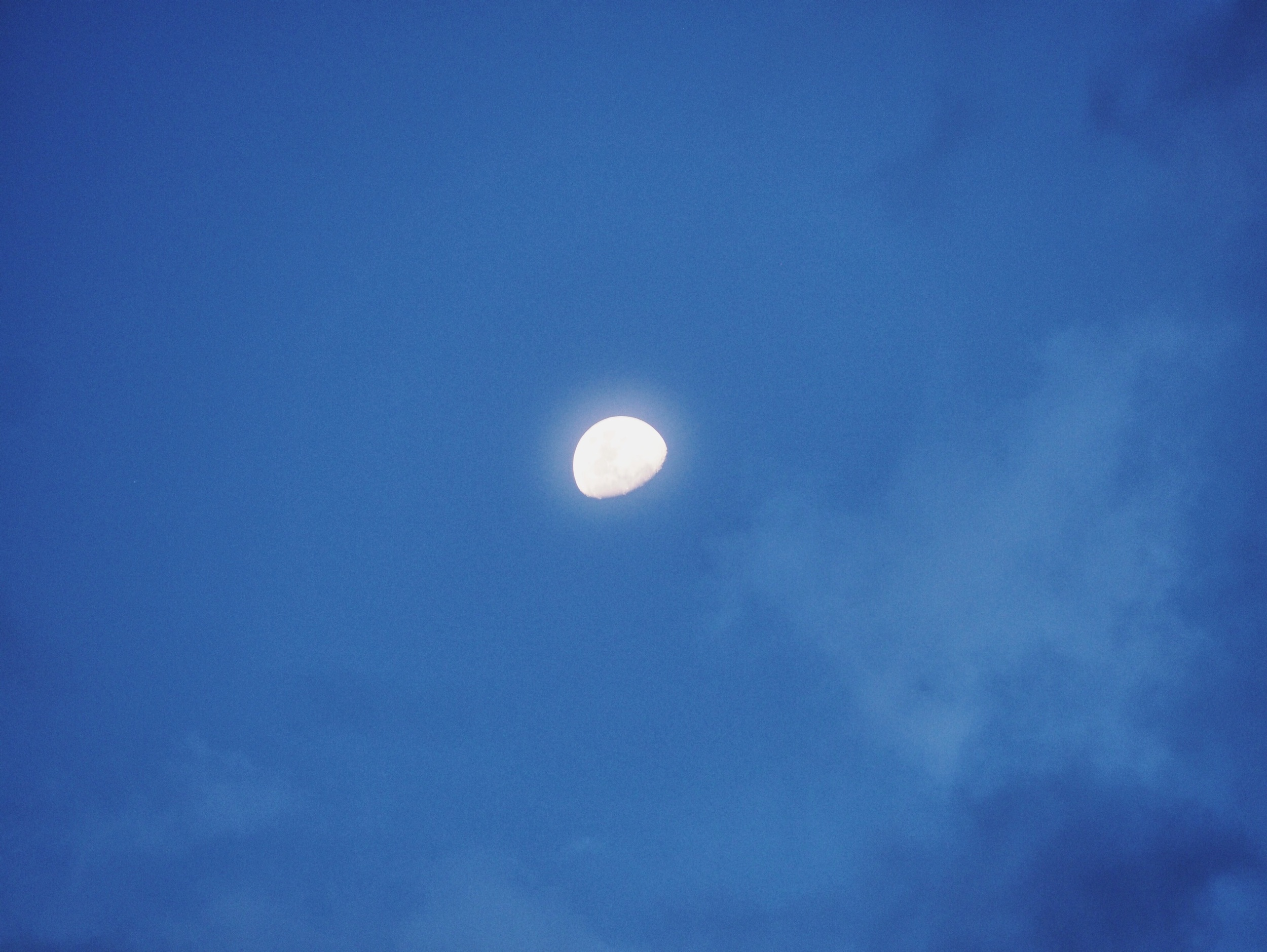 The moon keeps a watchful eye over our camp