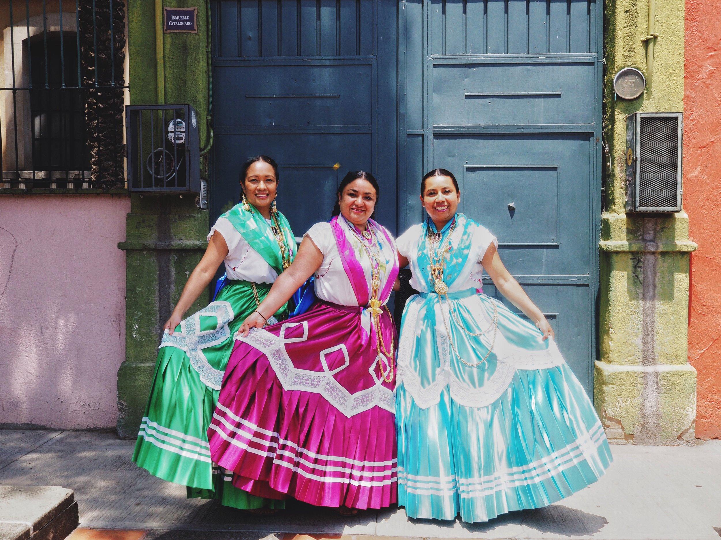 Dancers in Oaxaca City