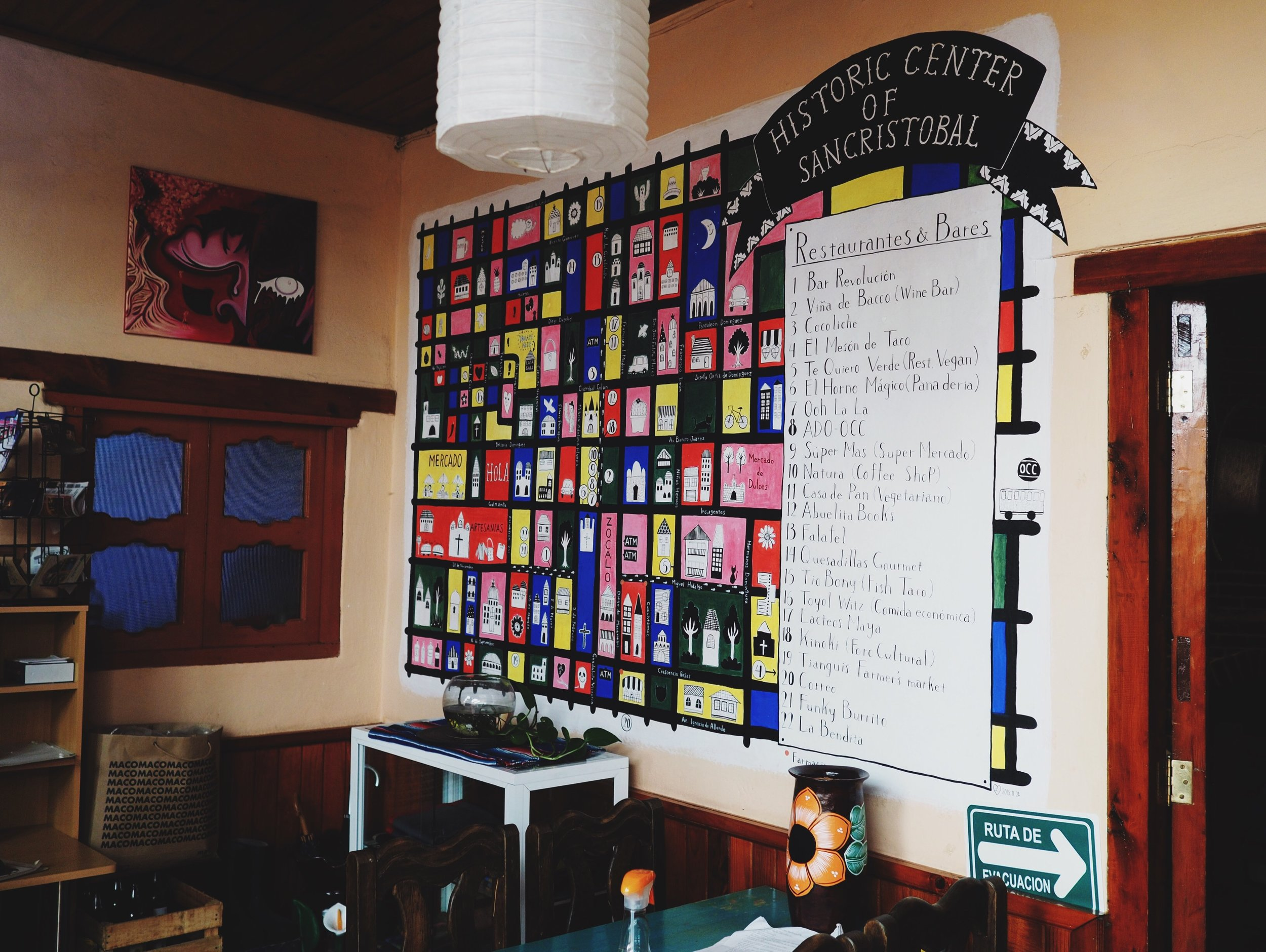 Casa Gaia's map of downtown helped us find interesting things to do and see all over town