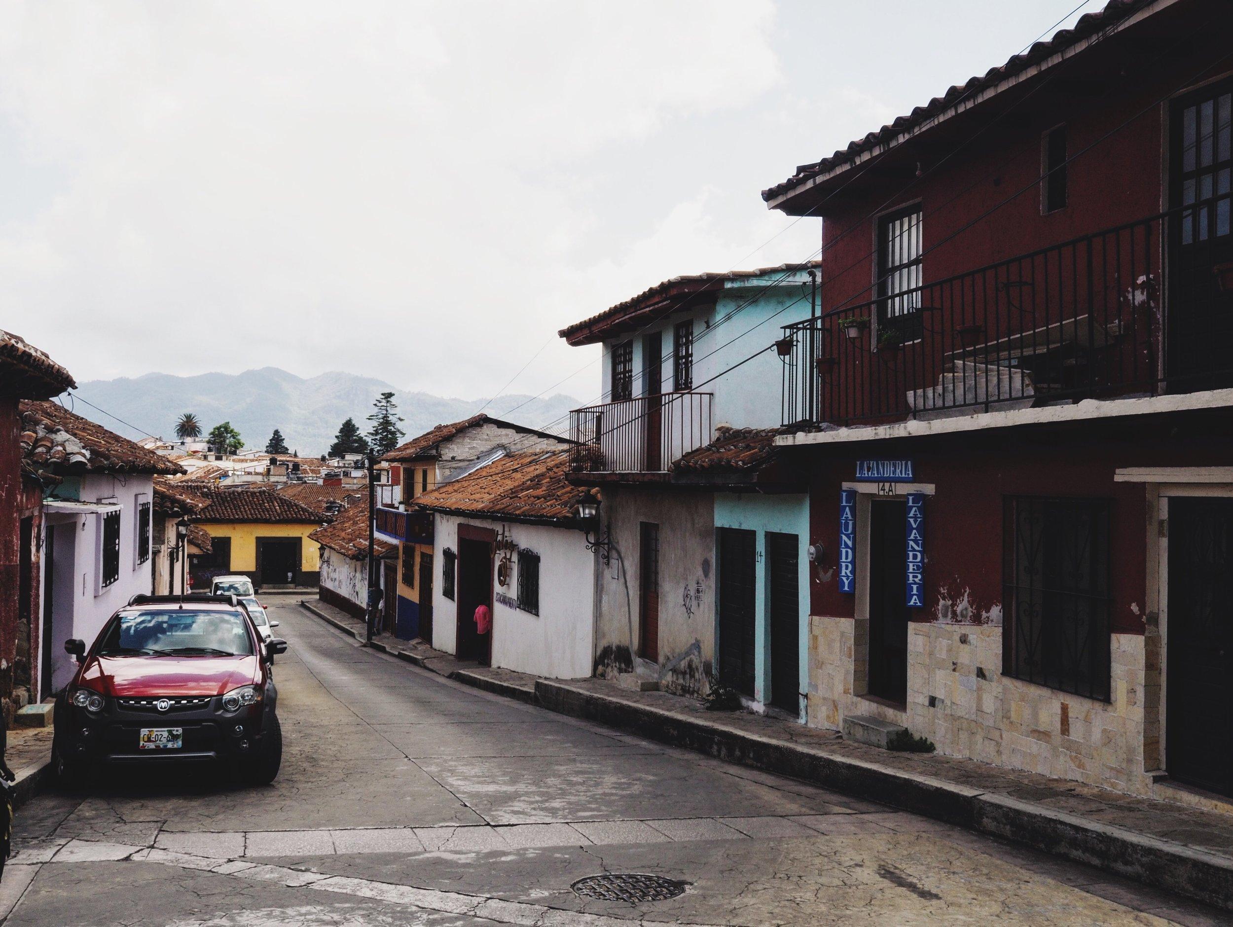 Wandering in San Cristóbal on an overcast day