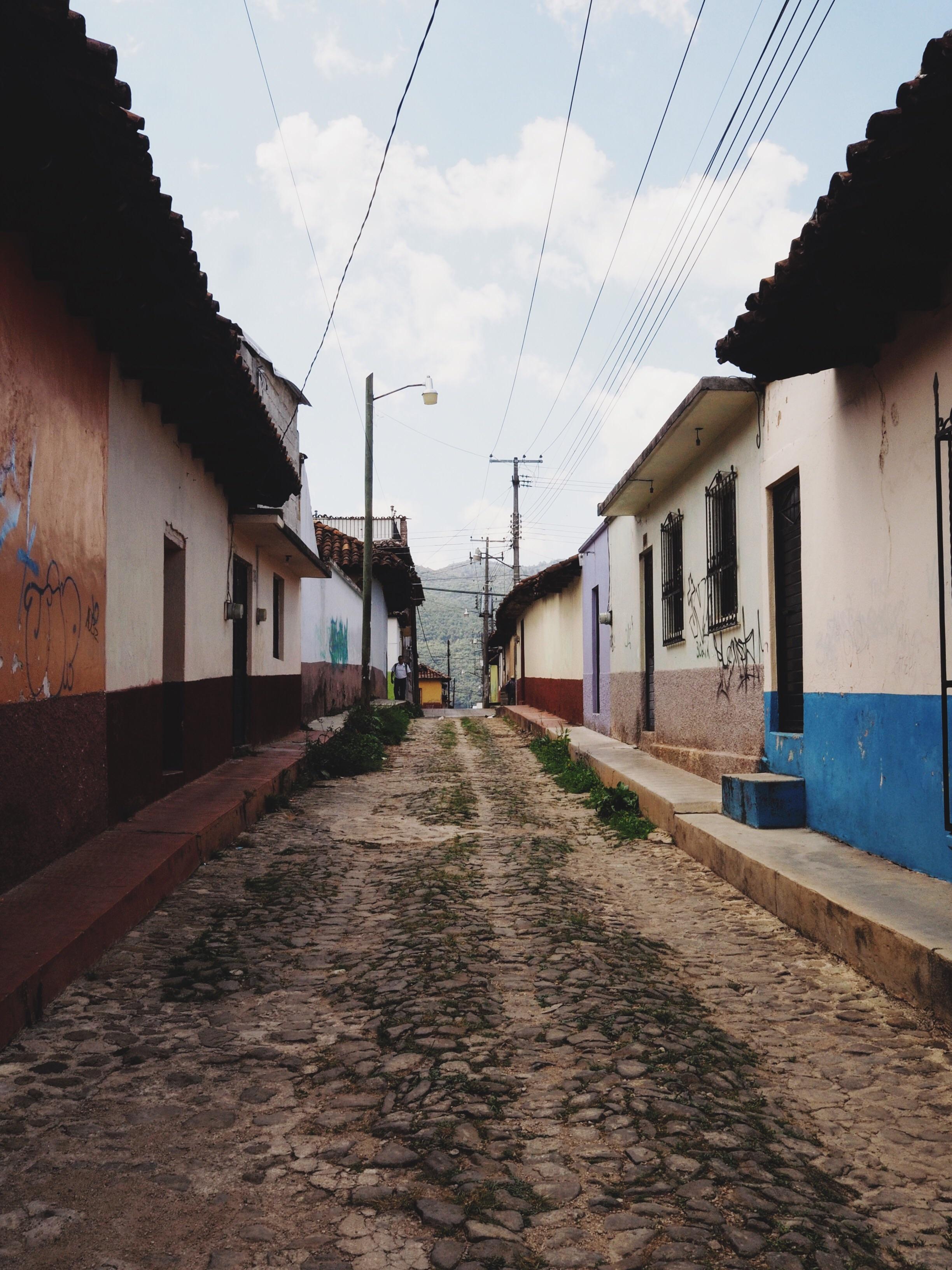 Tiny cobblestone streets