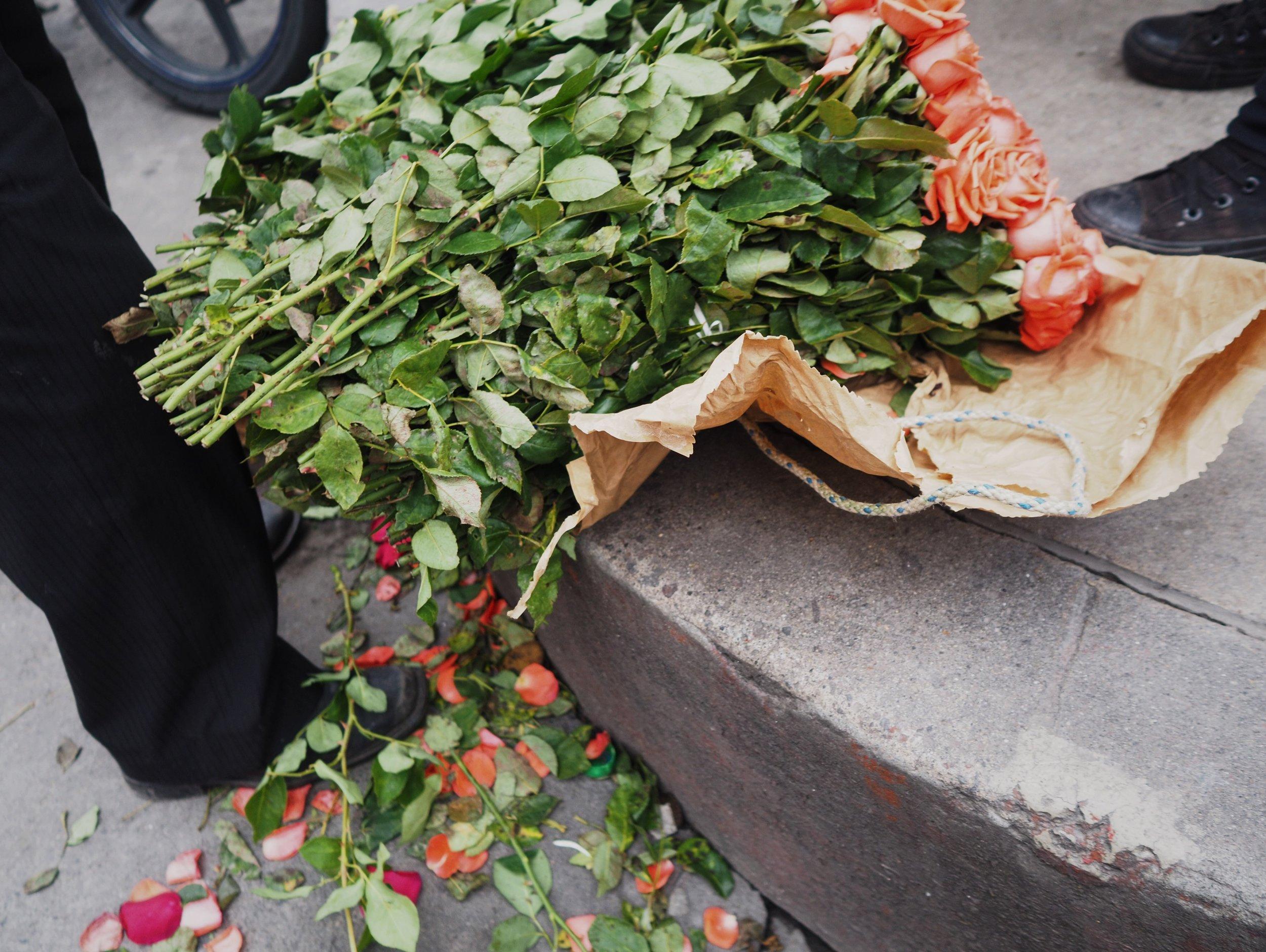 Flower vendor, Xela