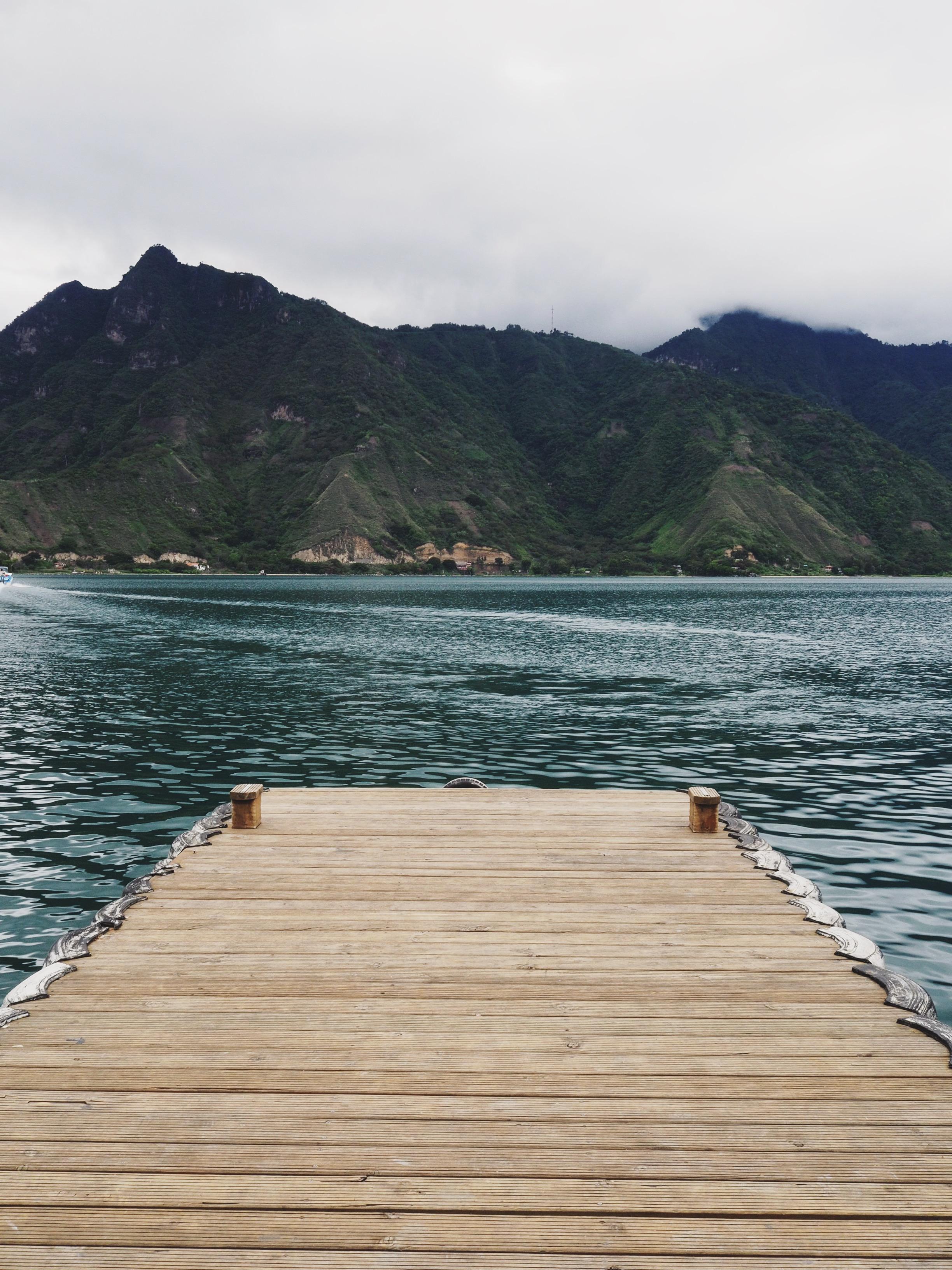 Boat dock in San Pedro La Laguna