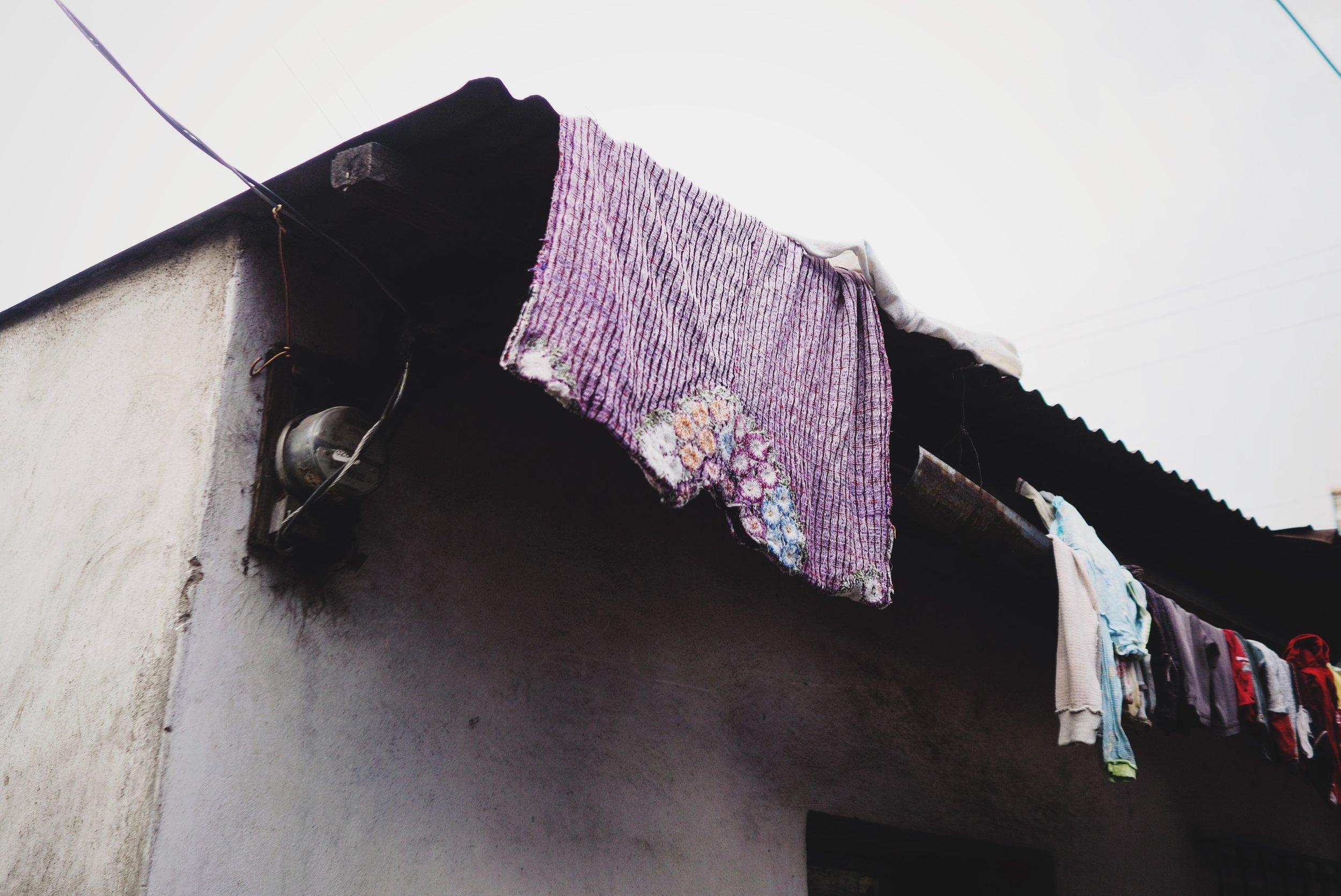 Clothes drying, San Pedro la Laguna