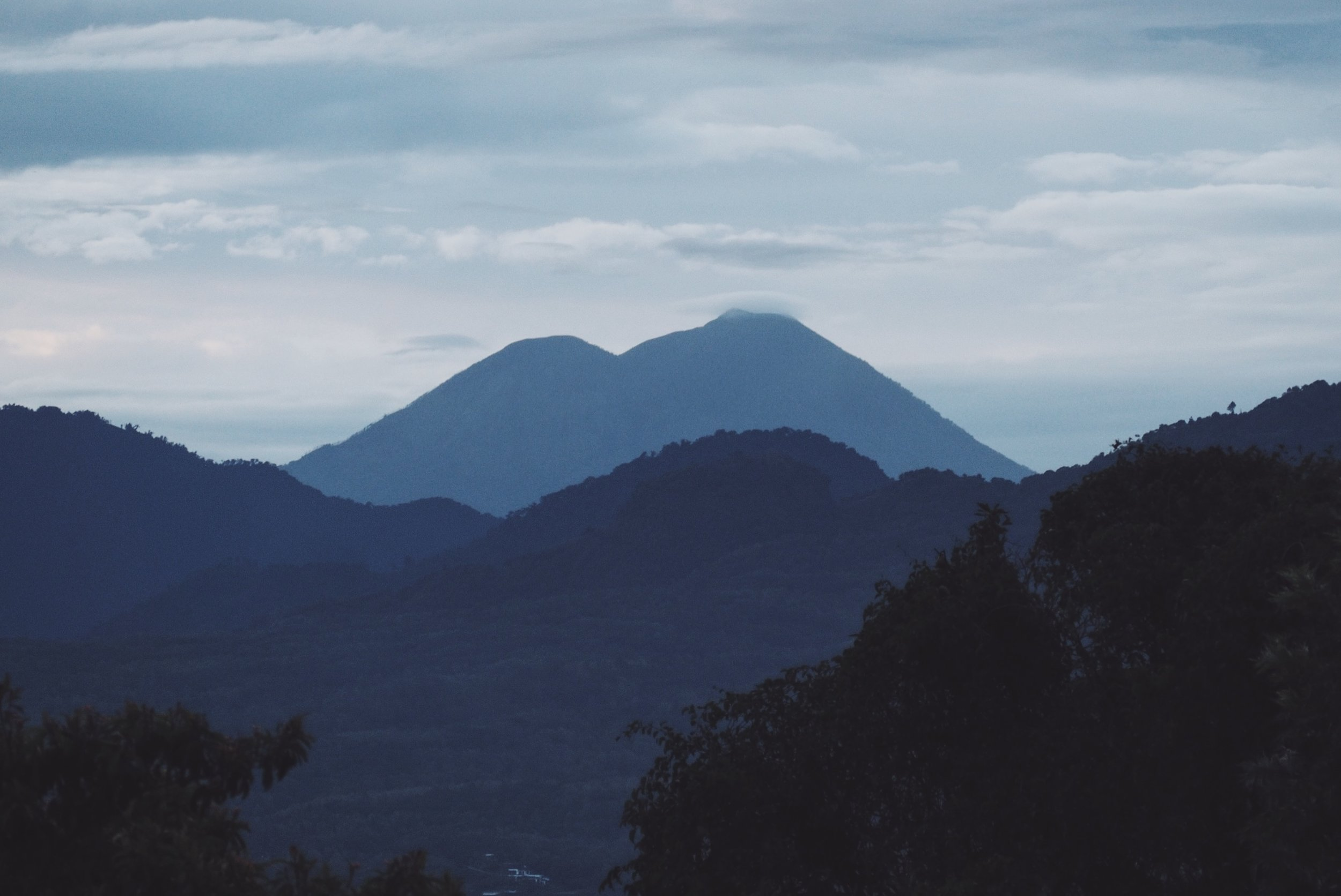 Mountains and volcanoes of Atitlan