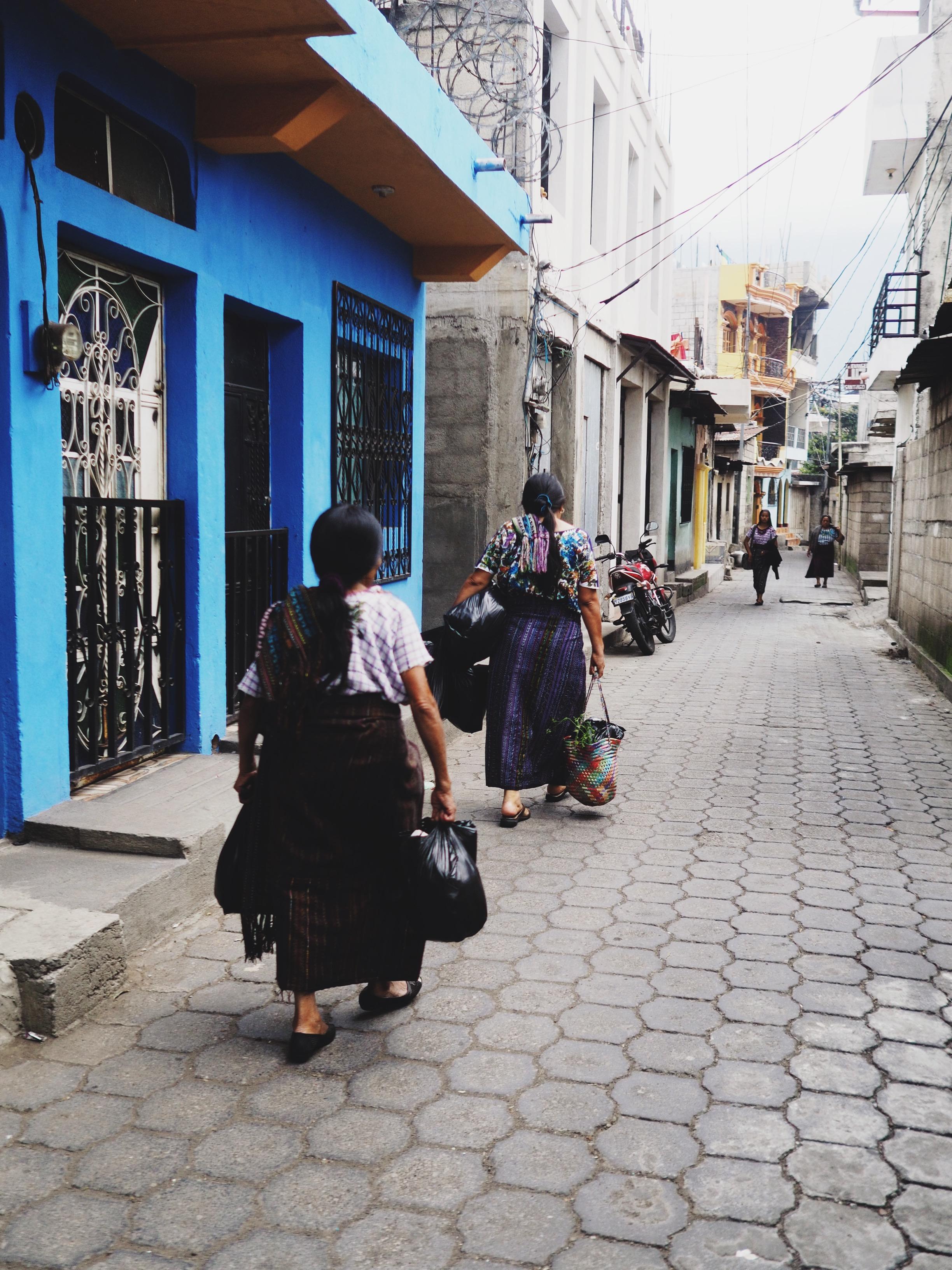 Santiago Atitlan street scenes