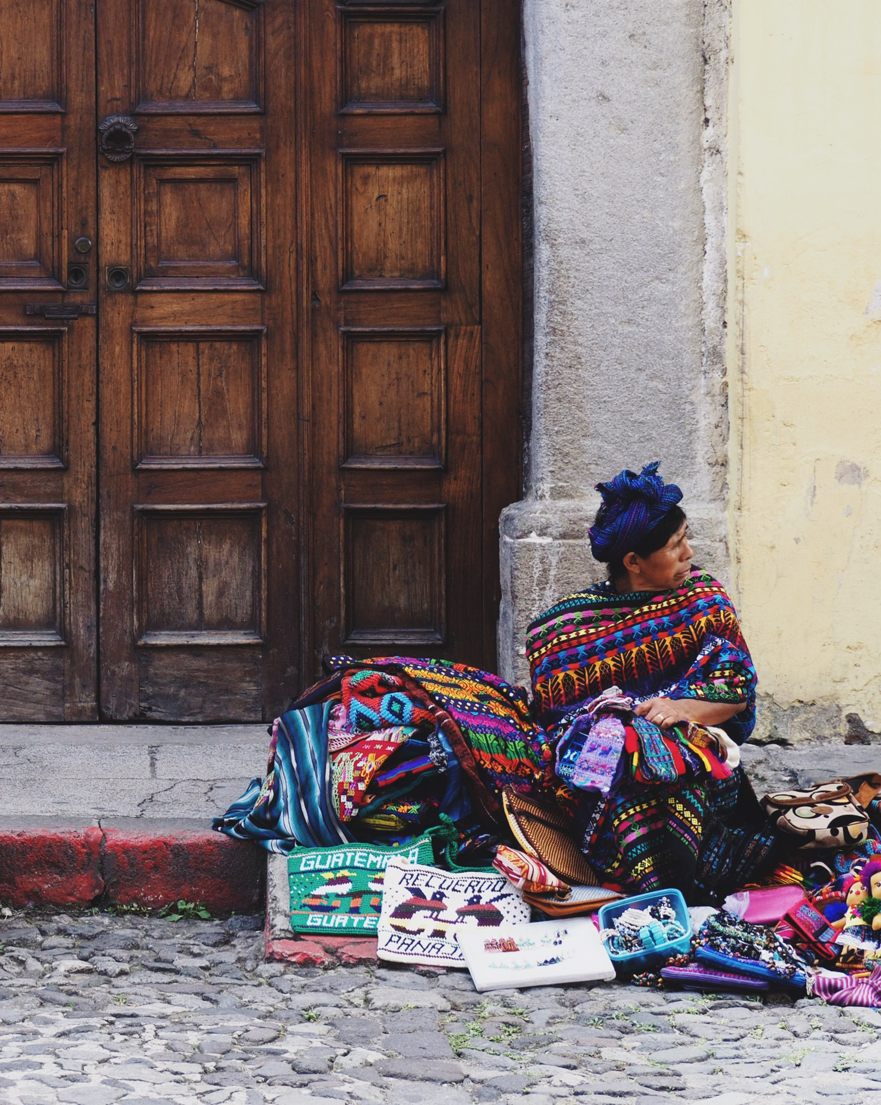 Met a nice Mayan woman selling textile souvenirs to tourists