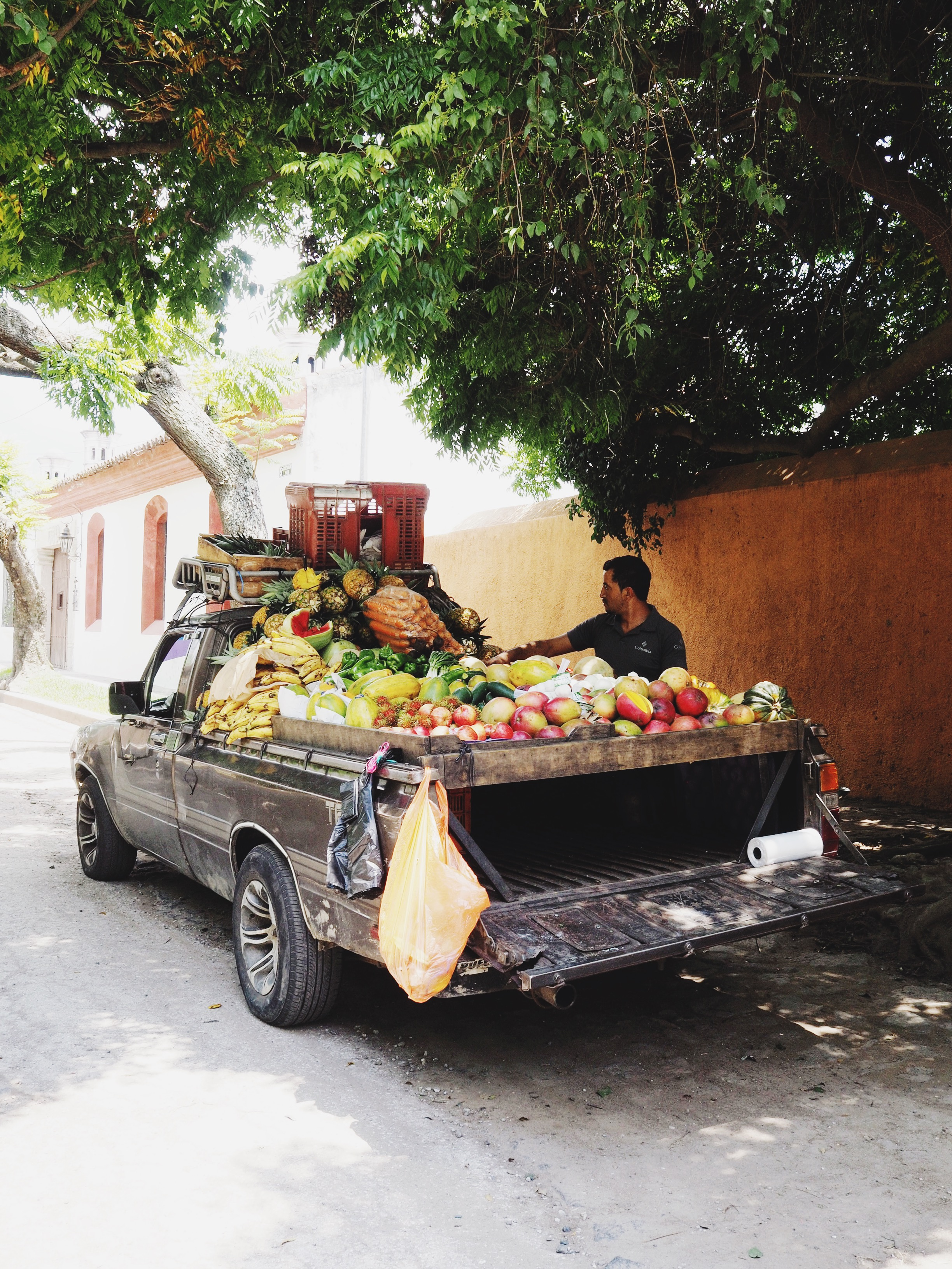 Produce truck makes the rounds