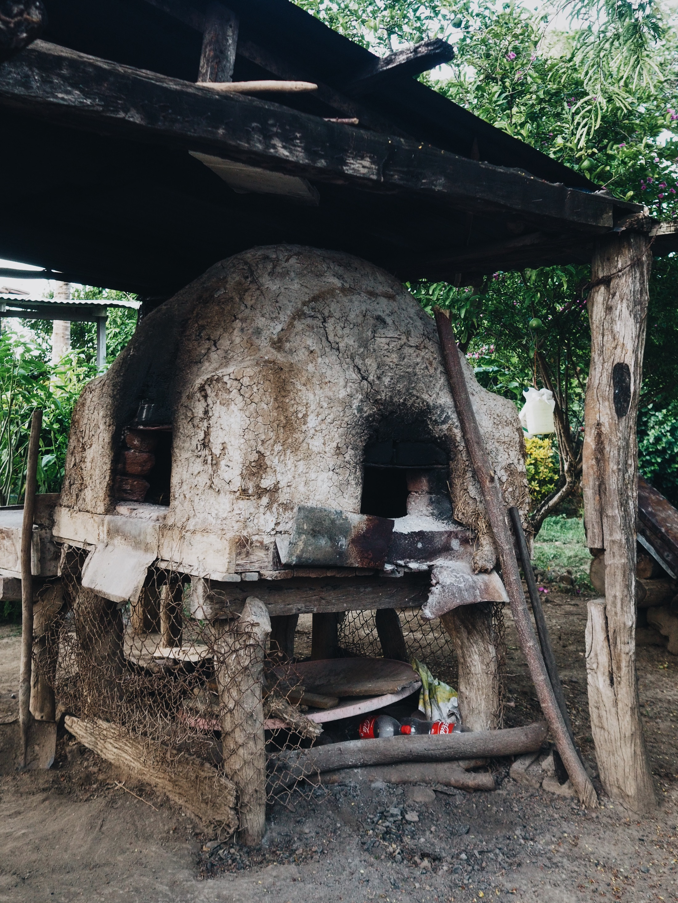 We loved the family's horno in the backyard! Pizza anyone?