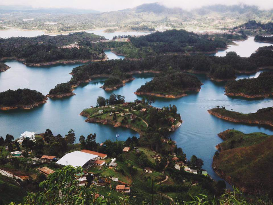 Guatapé, Colombia - an enormous man-made lake that generates hydro-electric energy for 30% of Colombia's population