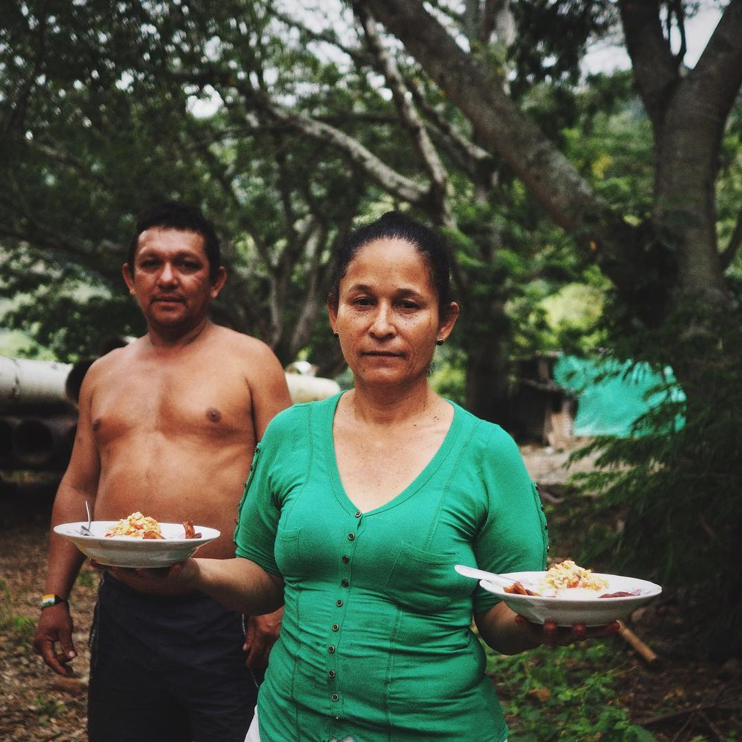 Being fed and put up for the night in Caramanta, Colombia