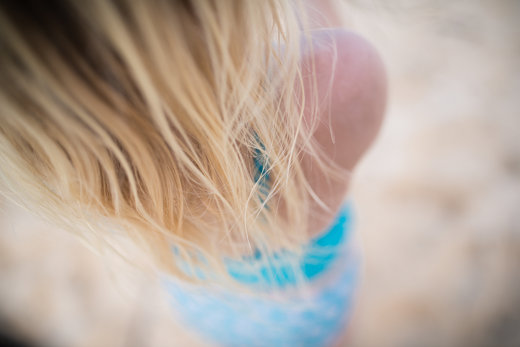 portrait of girl on bellows beach in hawaii