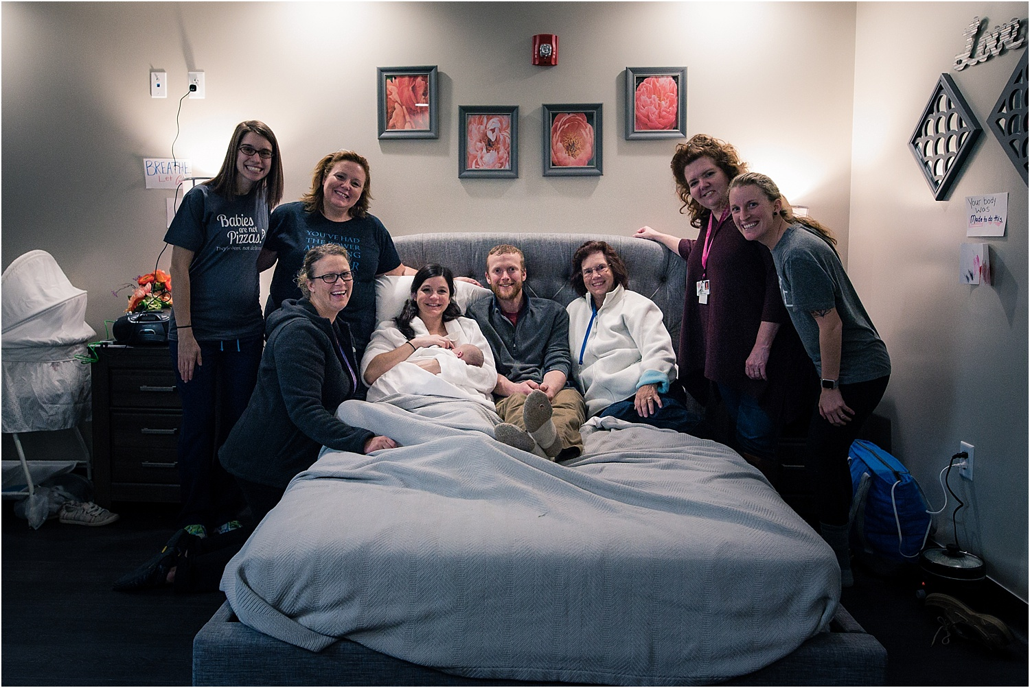 birth team after birth at bloomington normal birth center