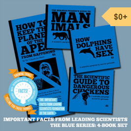 All four of the Blue Series of informational mini-zines as a full set. The next volume of scientific pamphlets for and by geniuses is forthcoming, so prepare yourself with this four issue set of vital knowledge!