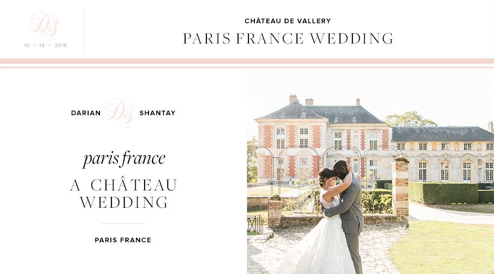 Darian Shantay Paris France Wedding