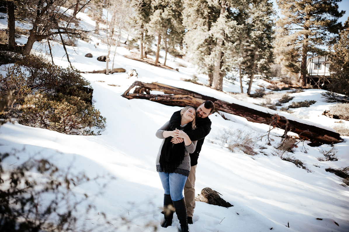 I've known Darian since high school and when she gave my boyfriend and I the opportunity to have a photo shoot in Big Bear in the snow, I was so excited. I had been watching her work over the years and had fallen in love with the style of photographs and energy. During our shoot, Darian was bubbly and easy to correspond with when taking pictures! My boyfriend and I had no previous experience in doing professional pictures, but with Darian's help we were super comfortable and could truly show our feelings for one another in each shot with ease. Thanks Darian! I already told her that when our engagement comes around, I know who to go to. :) -  Victoria Snow