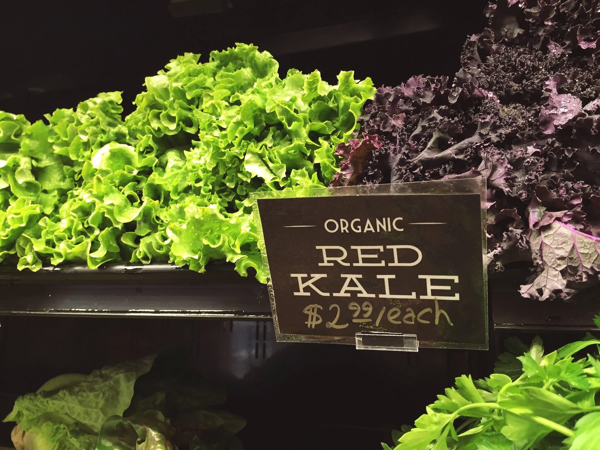 Organic produce signage