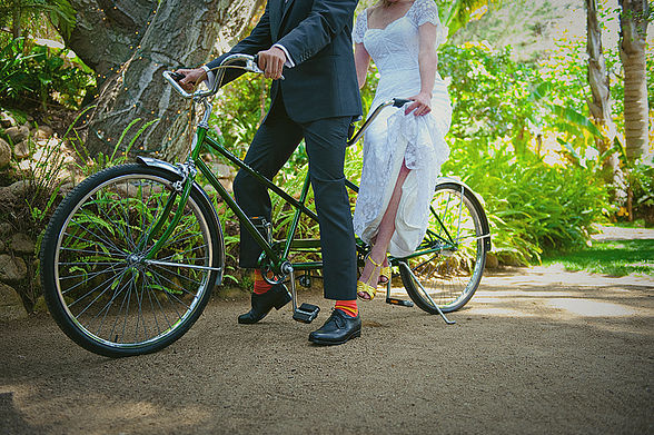 Andi and Shawn have a thing for tandem bicycles
