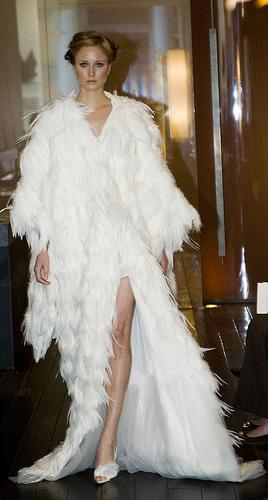 White feather kimono created for Terence Koh.