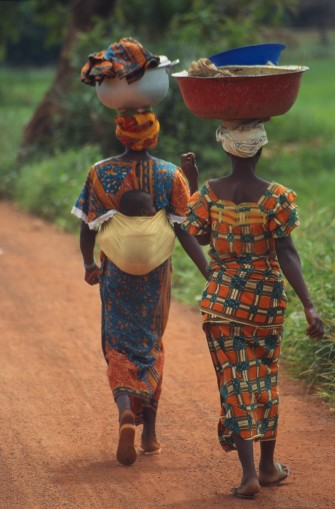 African Women with Buckets on Head