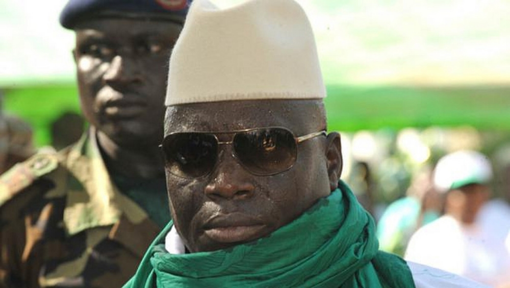 president yahya jammeh on vote campaign, photo courtesy flickr source afp seyllou