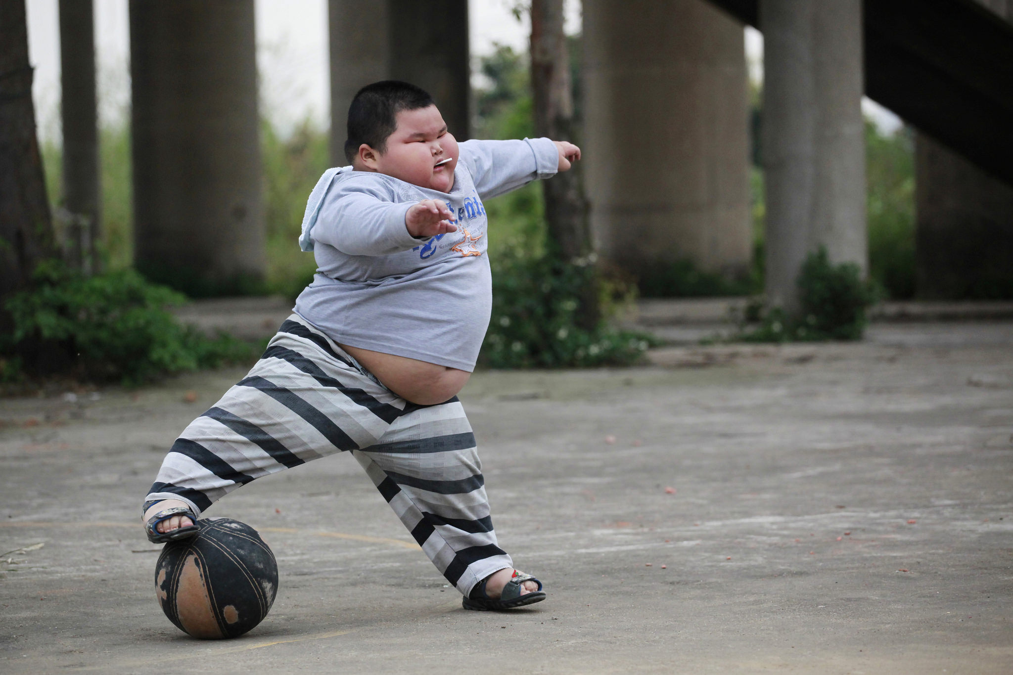 Lu Zhihao, 4, Foshan, Guangdong province March 28, 2011, Photo: REUTERS/Joe Tan
