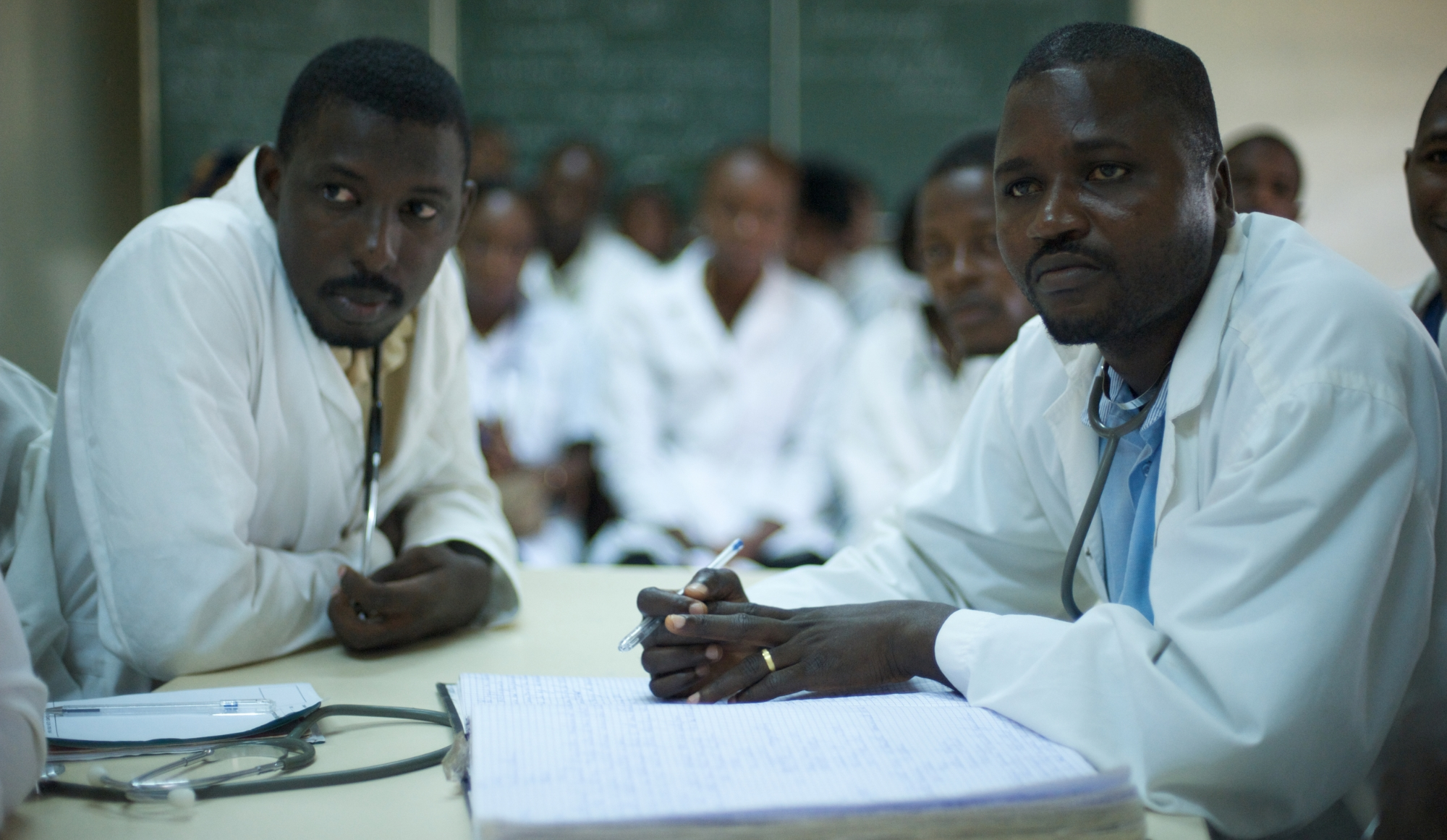 Pediatric doctors at Donka Hospital in Conakry, Guinea