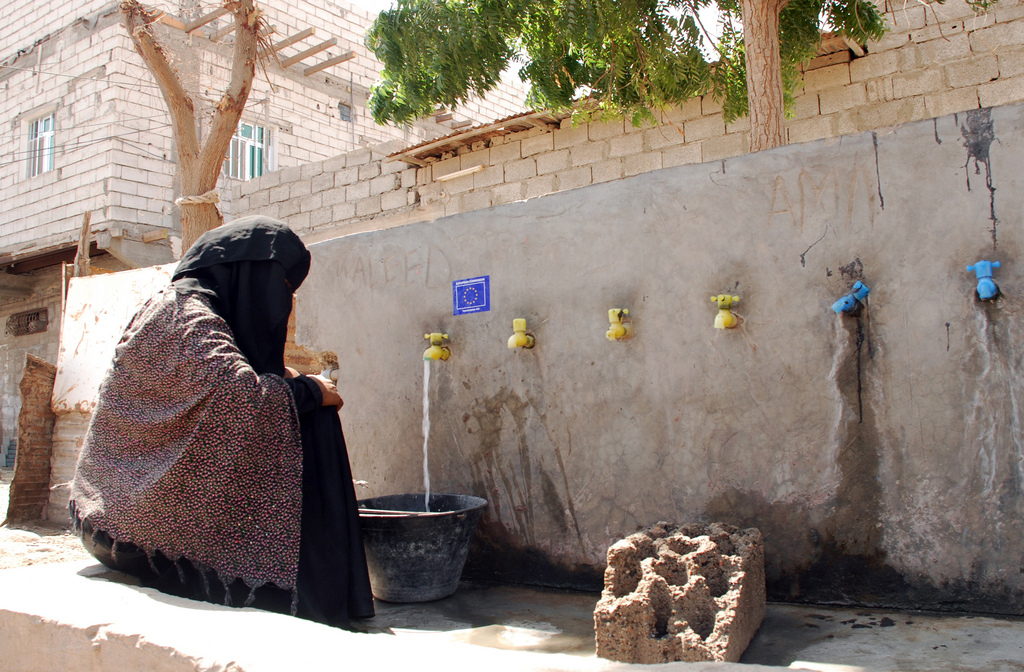 Yemen Clean Water Refugee Protection Program, Photo by EU Civil Protection and Humanitarian Aid