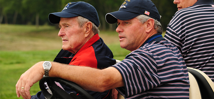Jim Remy with Former U.S. President George H.W. Bush. Courtesy of The PGA of America.