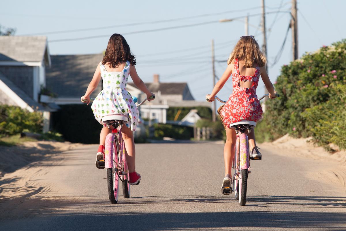 Bike riding in Codfish Park, by Cary Hazlegrove | NantucketStock