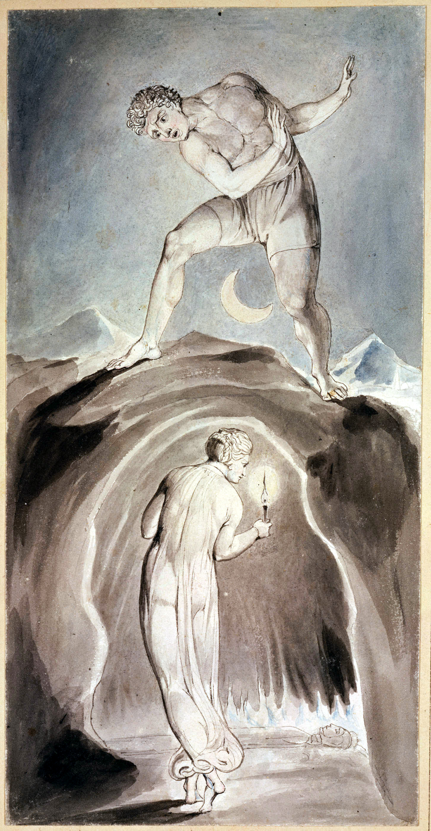 """The Soul Exploring the Recesses of the Grave"" from William Blake's  The Grave  (1806). Public domain via the  University of Adelaide ."