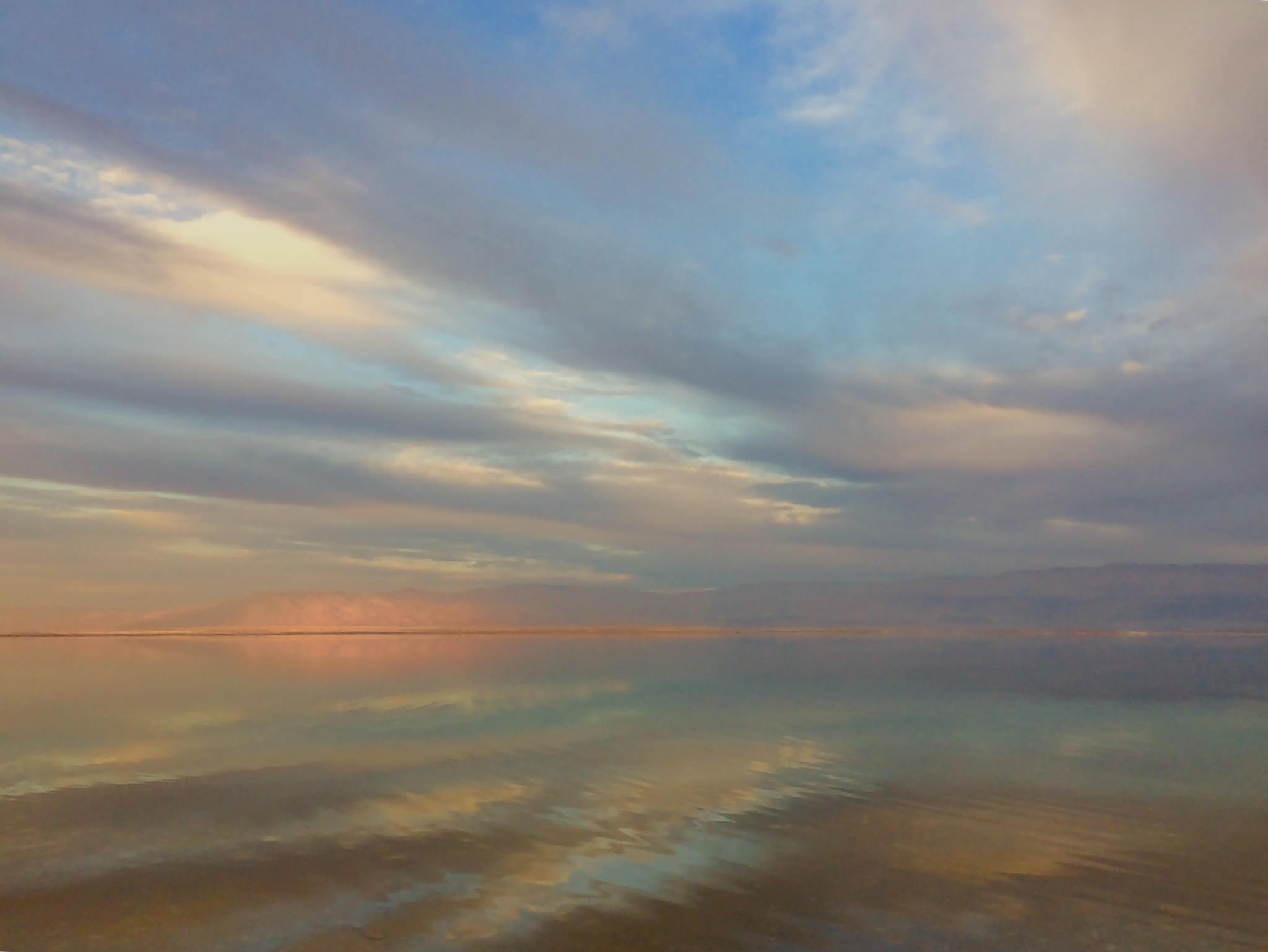 The Dead Sea near Ein Bokek in February 2017