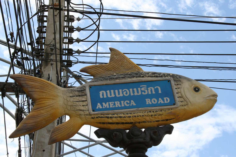 Kanchanaburi's Street Signs
