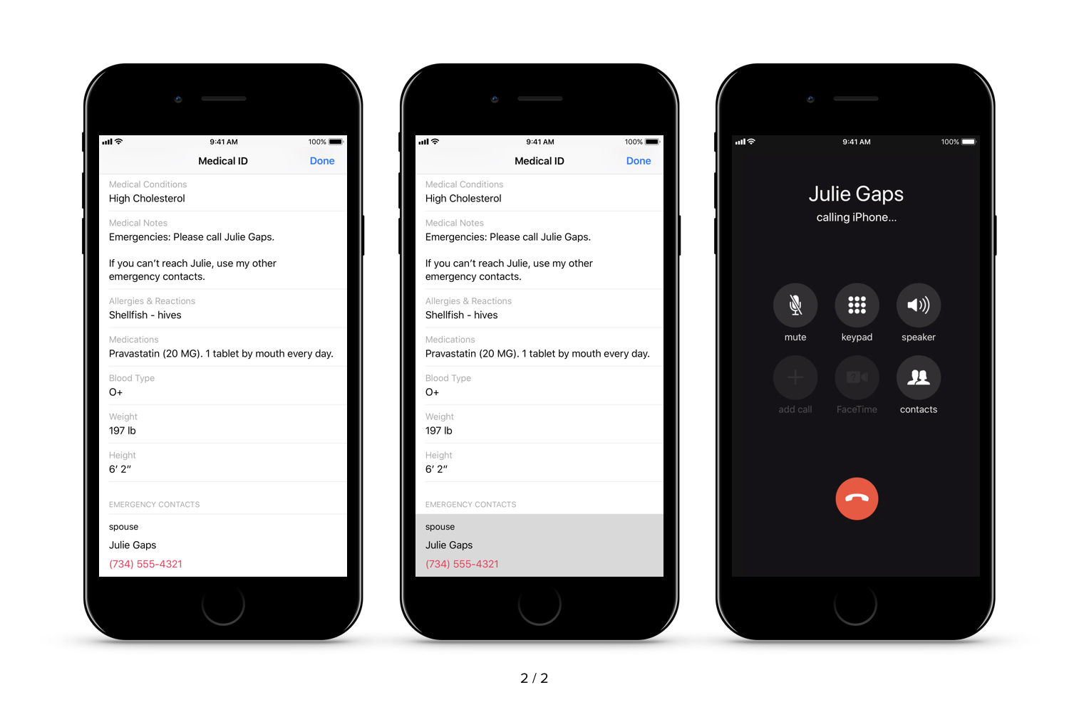 How First Responders Access Medical ID on iPhone (iOS 11)