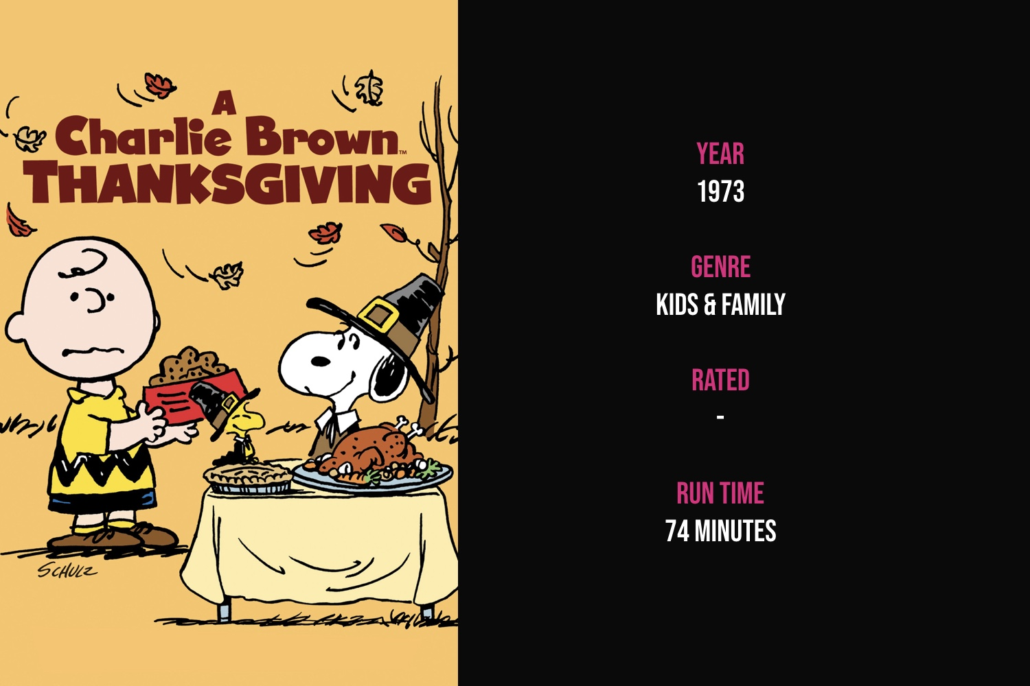 A Charlie Brown Thanksgiving - Peppermint Patty invites herself and a few friends over to Charlie Brown's house for Thanksgiving dinner and learns about the true meaning of Thanksgiving.iTunes | Amazon