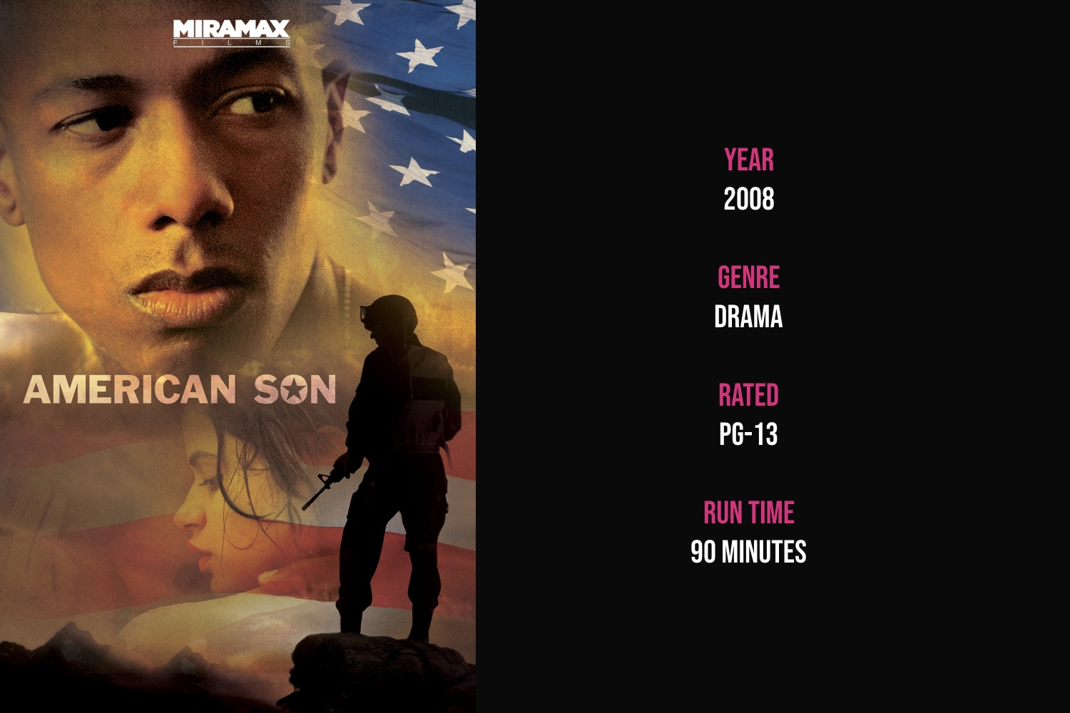 American Son - A 19-year old Marine is forced to confront his upbringing and adulthood during a 4-day Thanksgiving leave before his deployment to Iraq.iTunes | Amazon