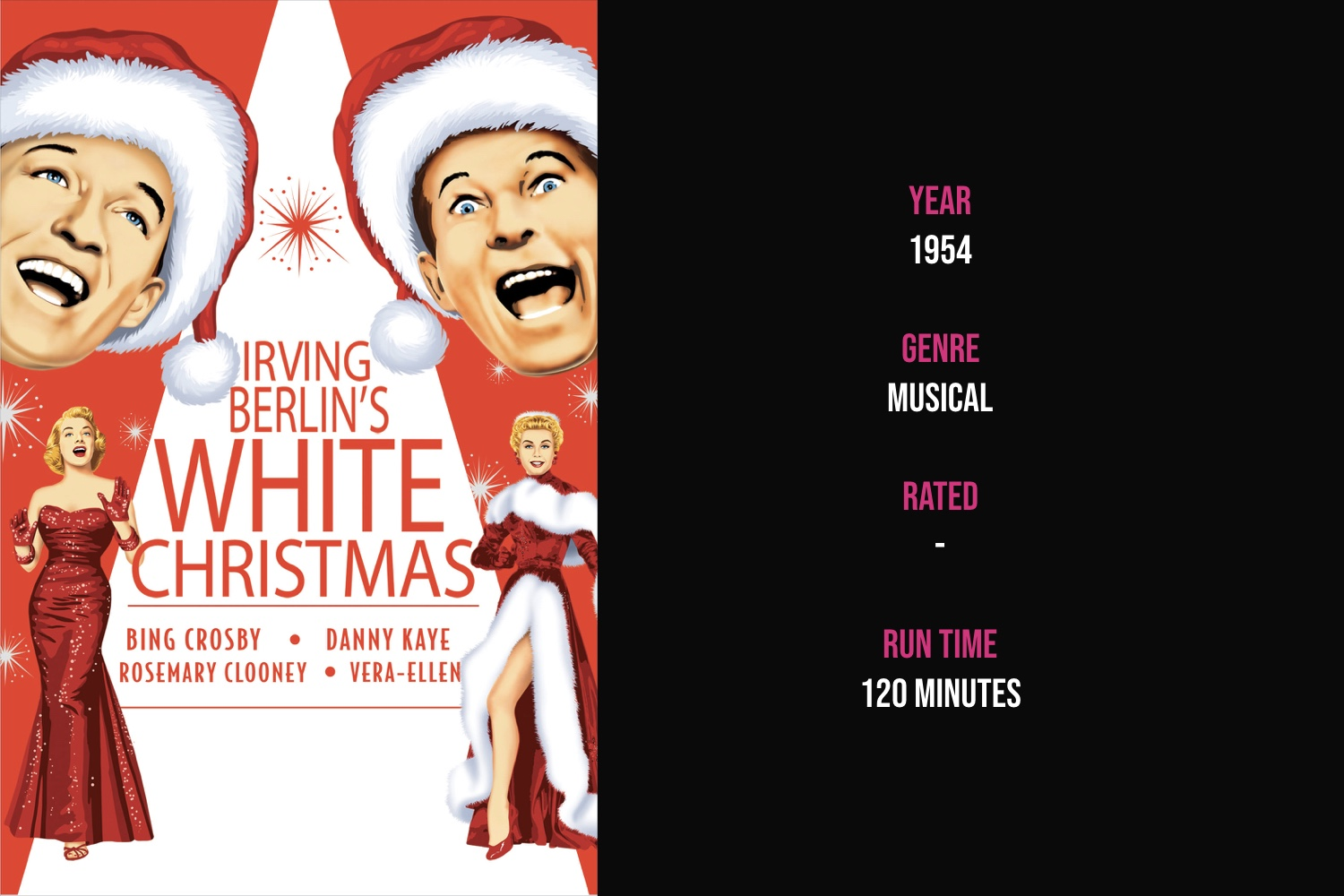 White Christmas - Two men with a successful song and dance act become romantically involved with a sister act and then team up to save the failing Vermont lodge of their former commanding general.iTunes | Amazon