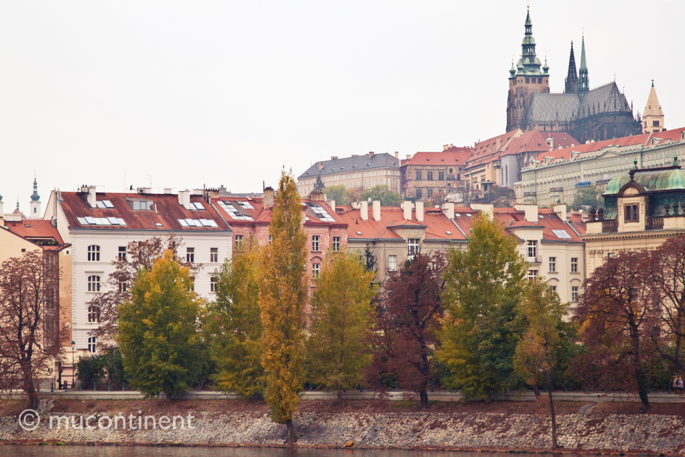 Prague Castle From River Vltava
