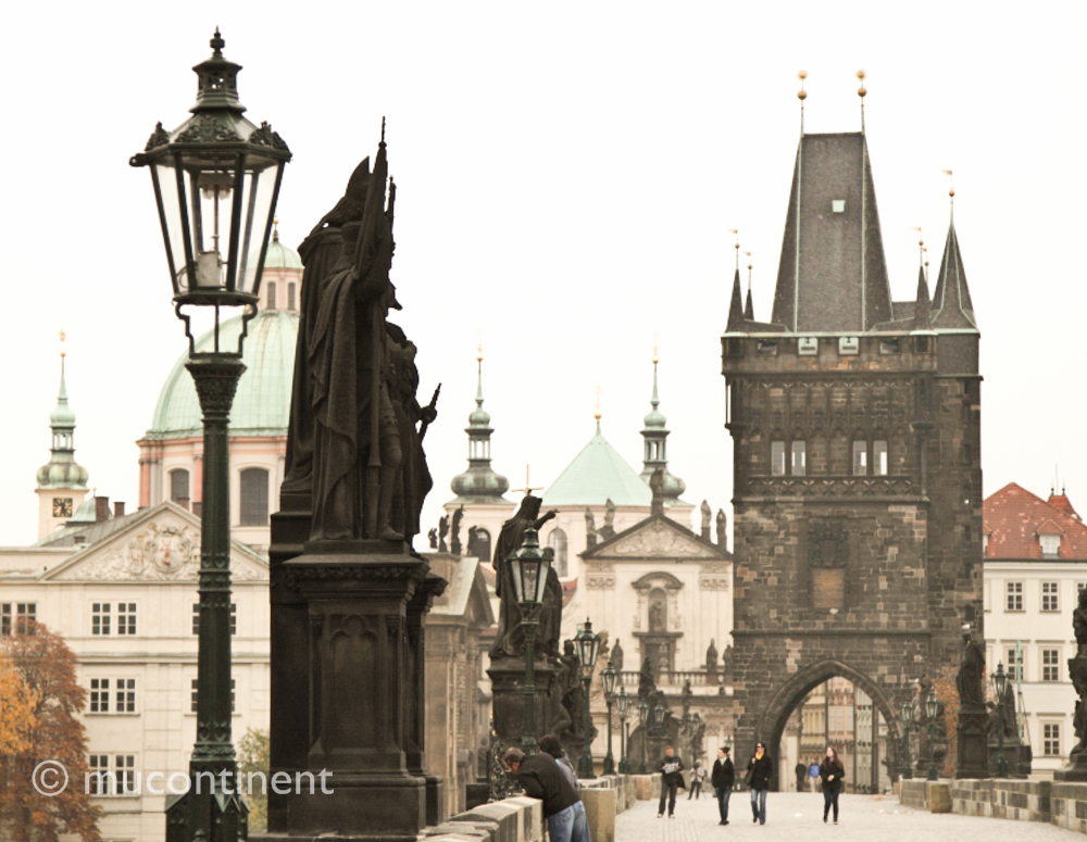 Charles Bridge in late fall